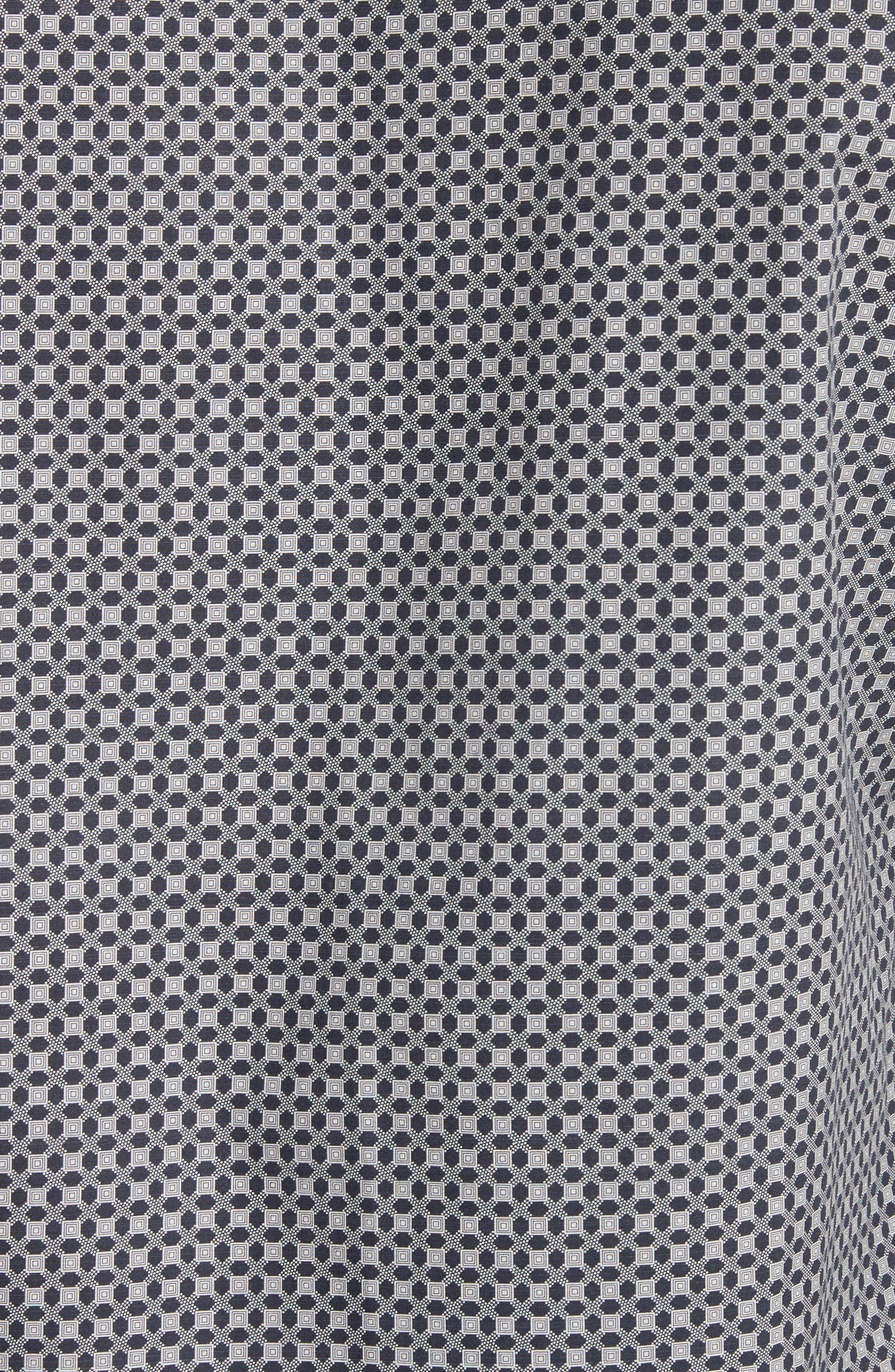 Geometric Print Woven Shirt,                             Alternate thumbnail 5, color,                             020