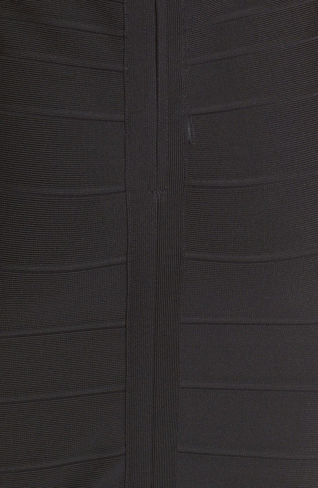 'Sydney' U-Neck Bandage Dress,                             Alternate thumbnail 3, color,                             001