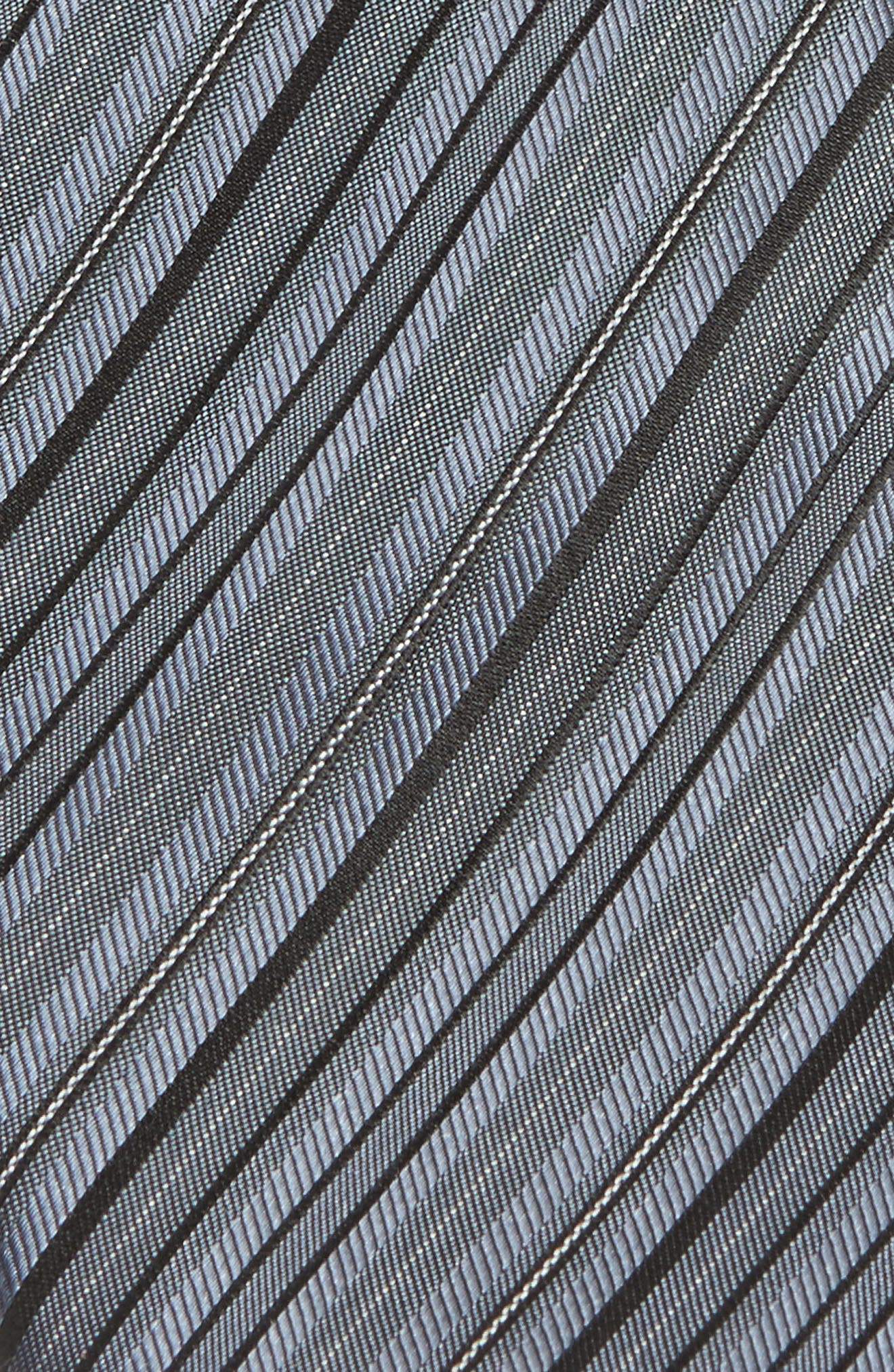 Stripe Silk Tie,                             Alternate thumbnail 2, color,                             027