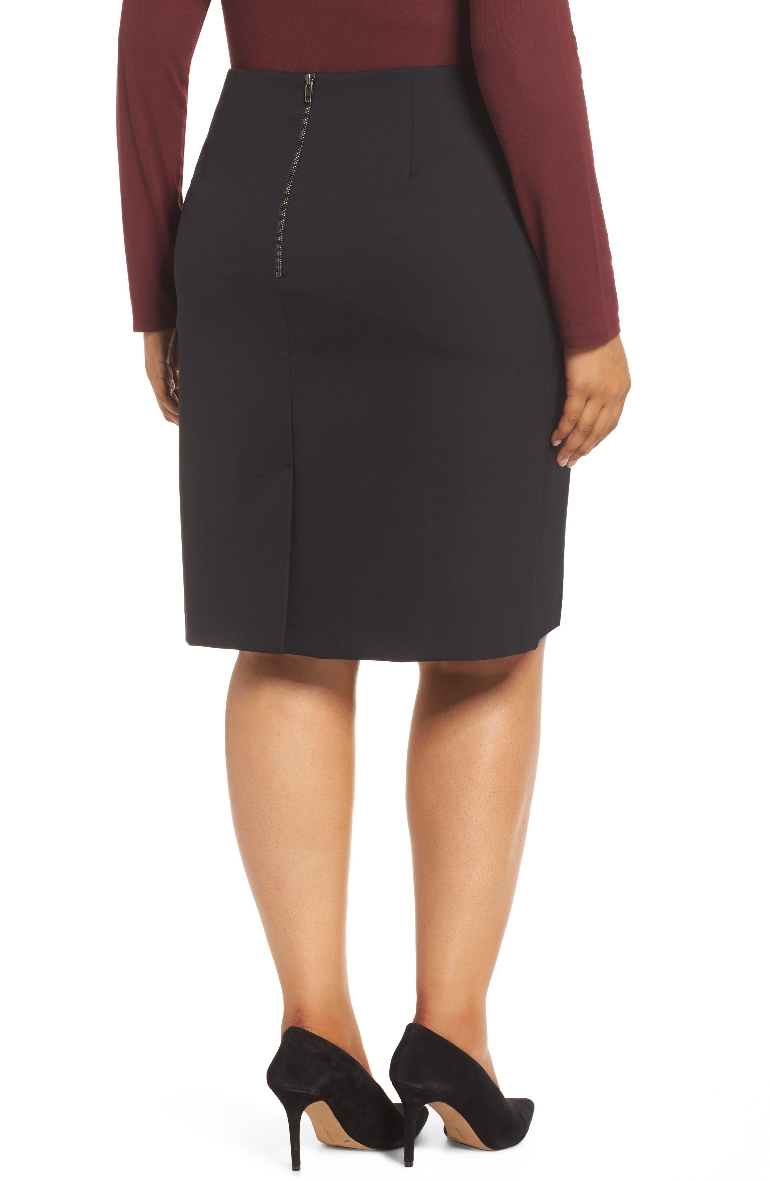 Pencil Skirt,                             Alternate thumbnail 8, color,                             BLACK
