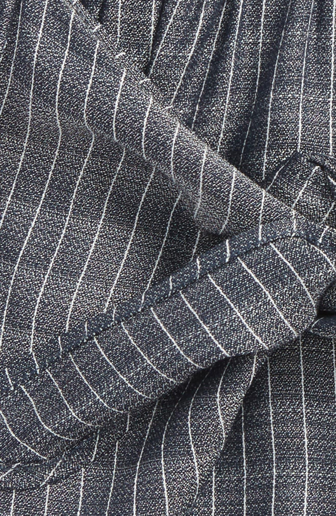 Lace Trim Tie Front Shorts,                             Alternate thumbnail 2, color,