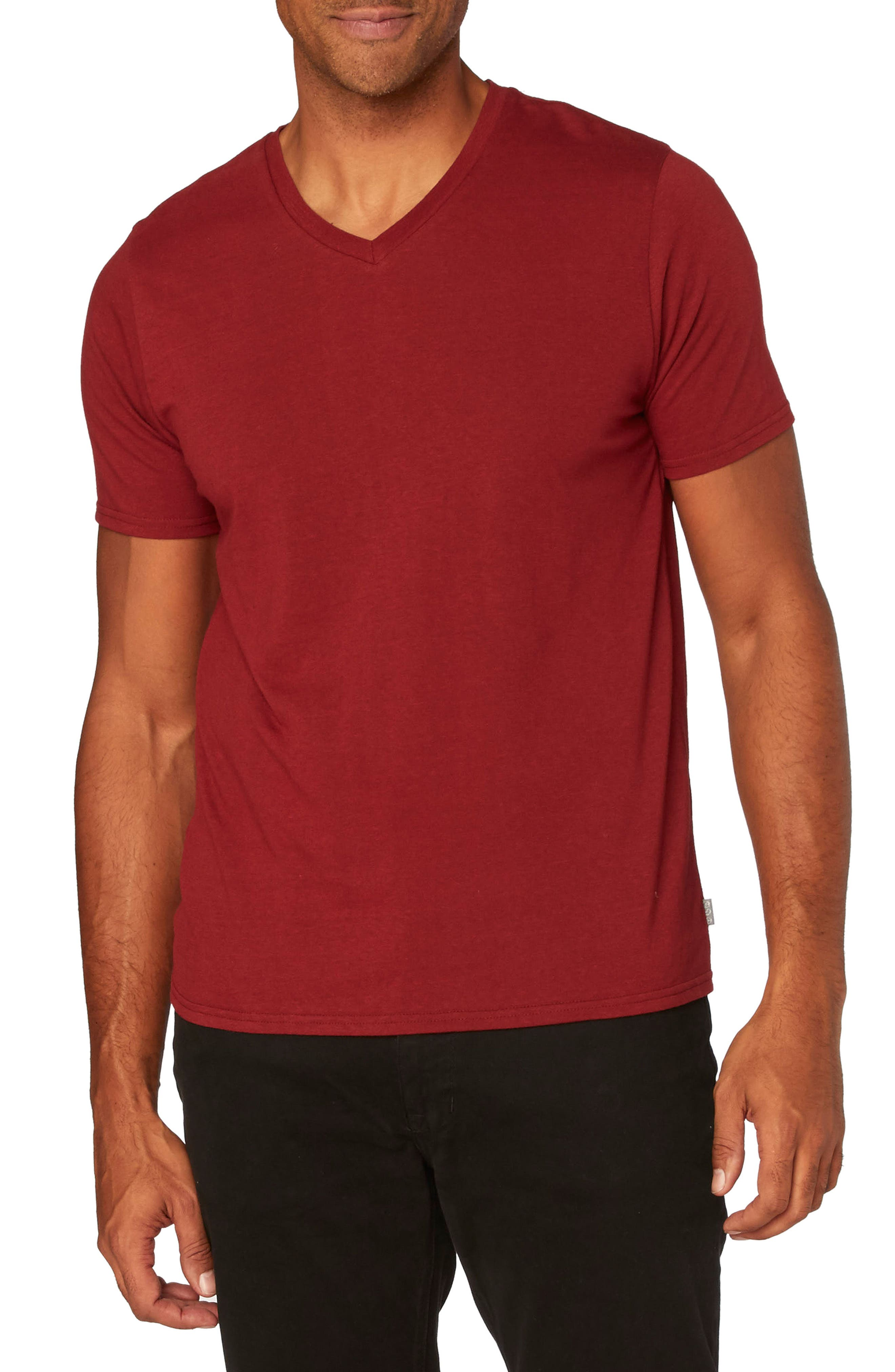 Threads for Thought Heather V-Neck,                             Main thumbnail 7, color,