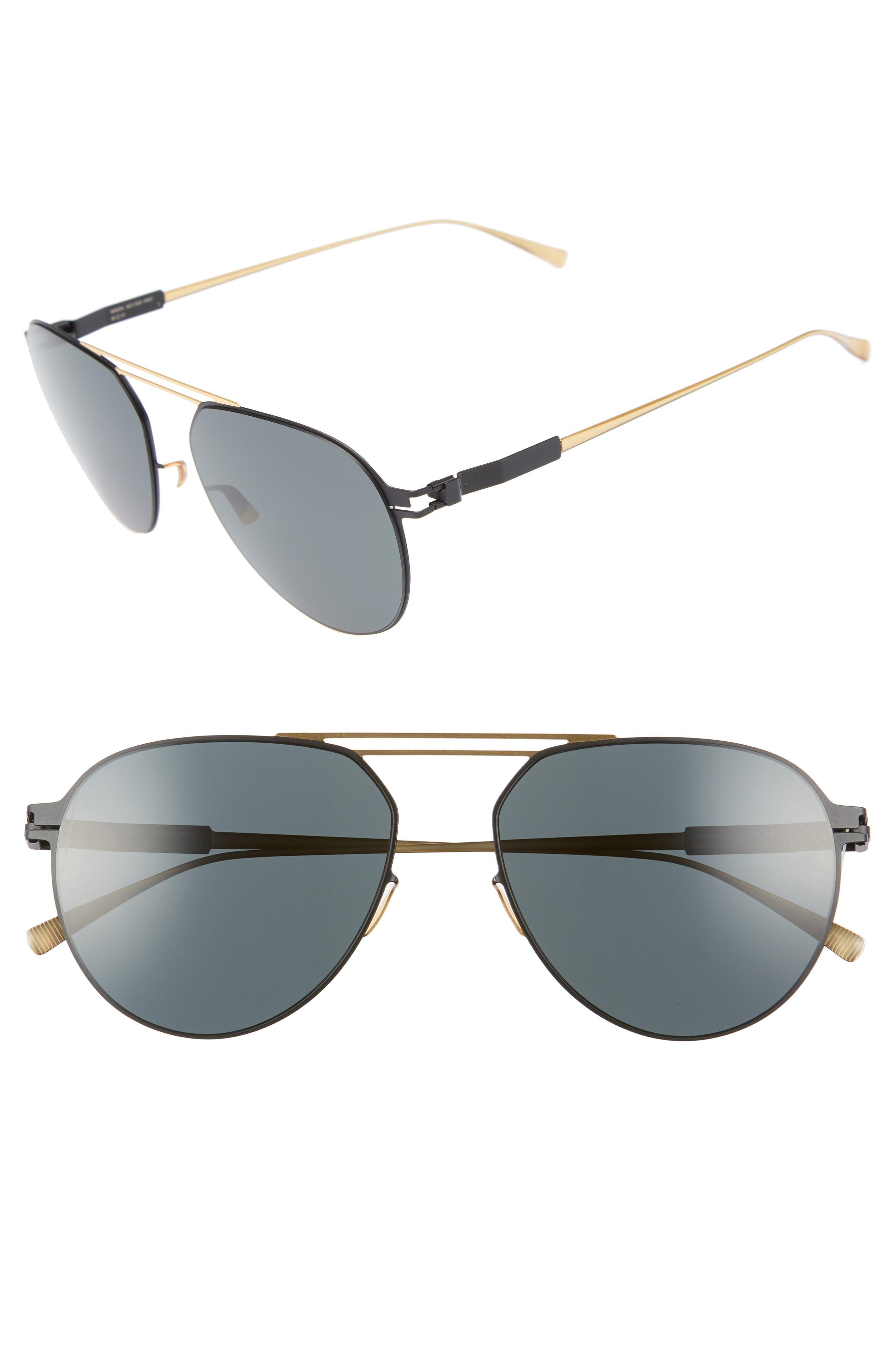 Nino 57mm Polarized Aviator Sunglasses,                             Main thumbnail 1, color,                             226
