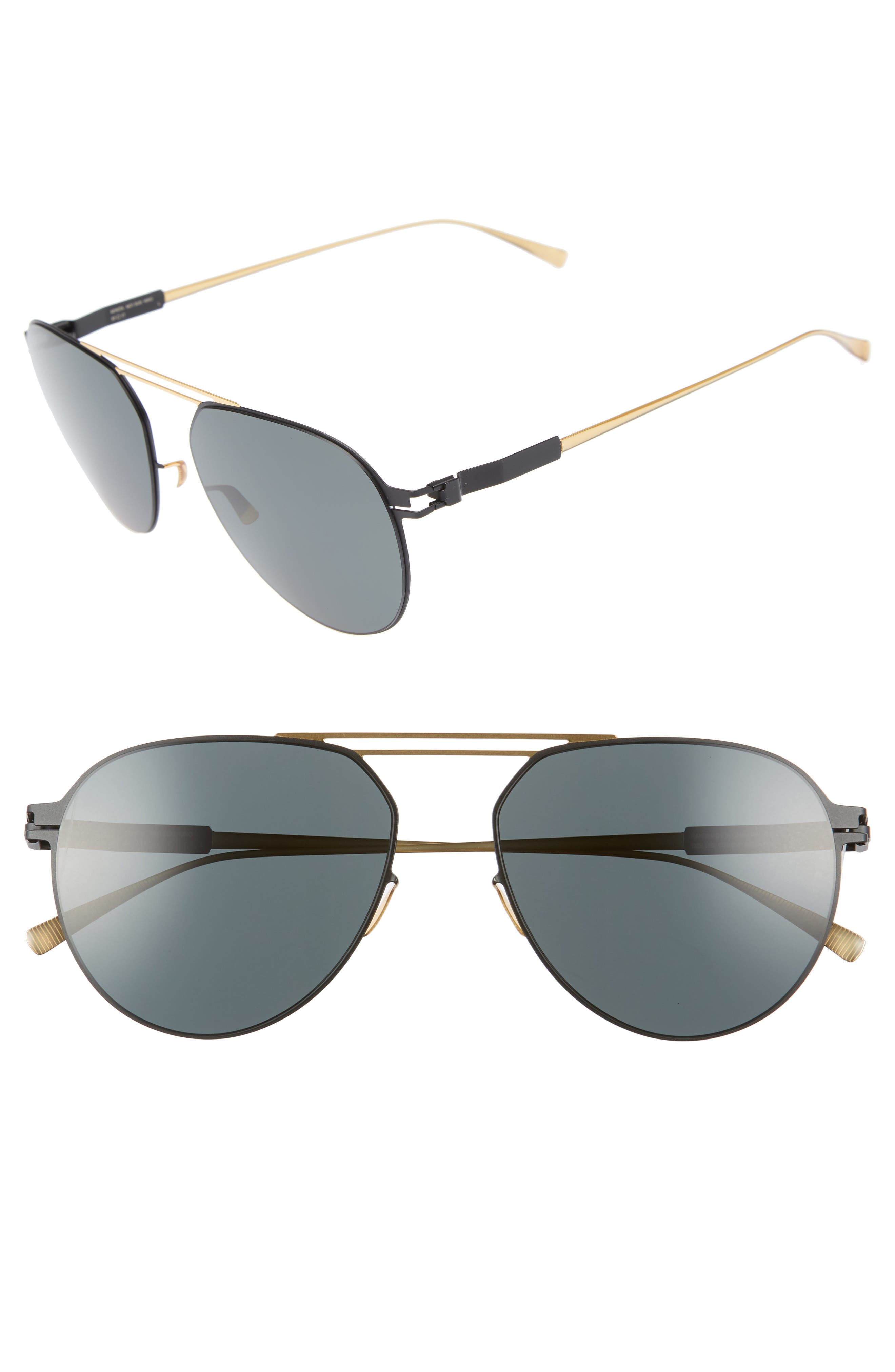 Nino 57mm Polarized Aviator Sunglasses,                         Main,                         color, 226