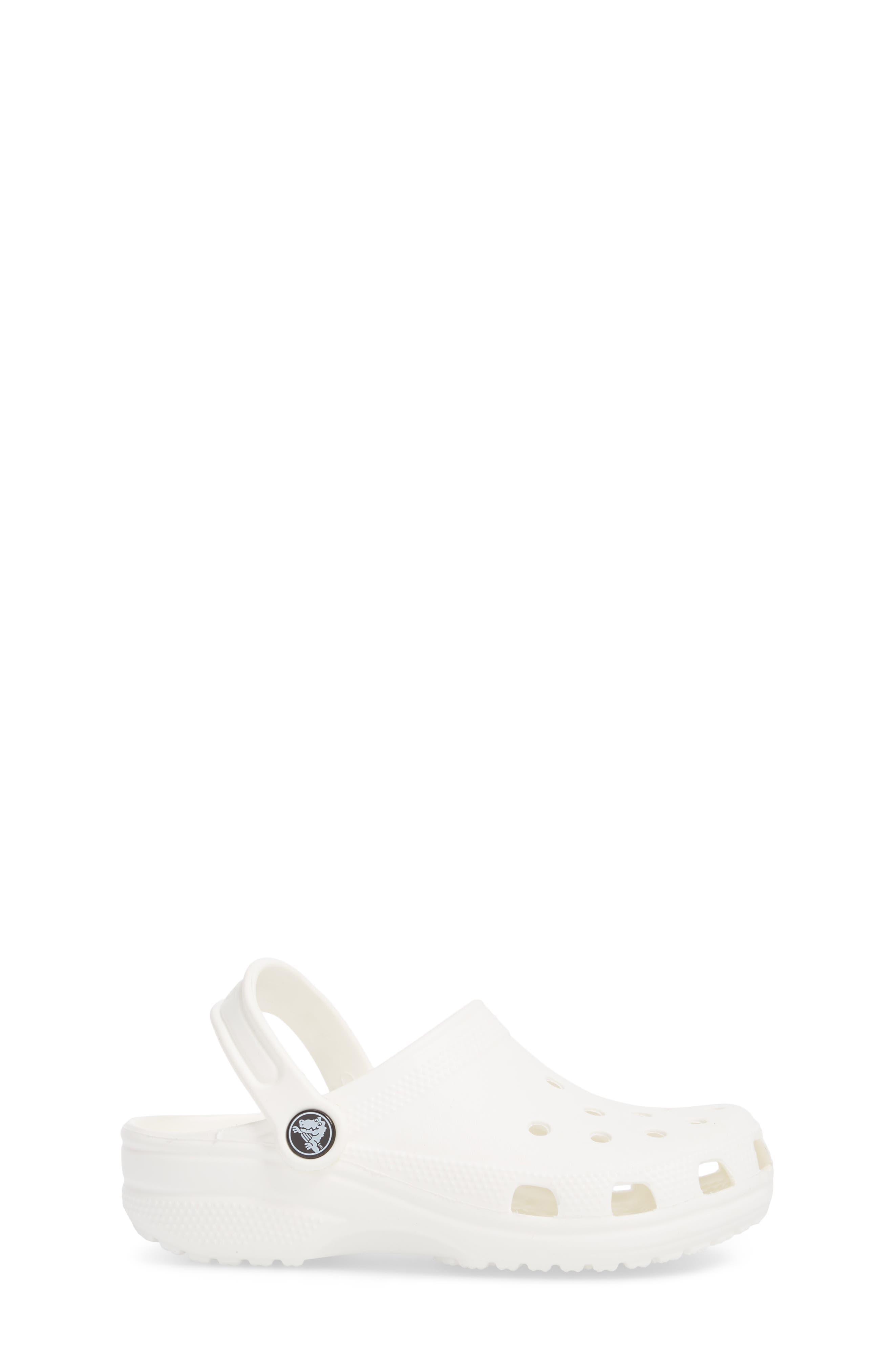 Classic Clog Sandal,                             Alternate thumbnail 3, color,                             WHITE