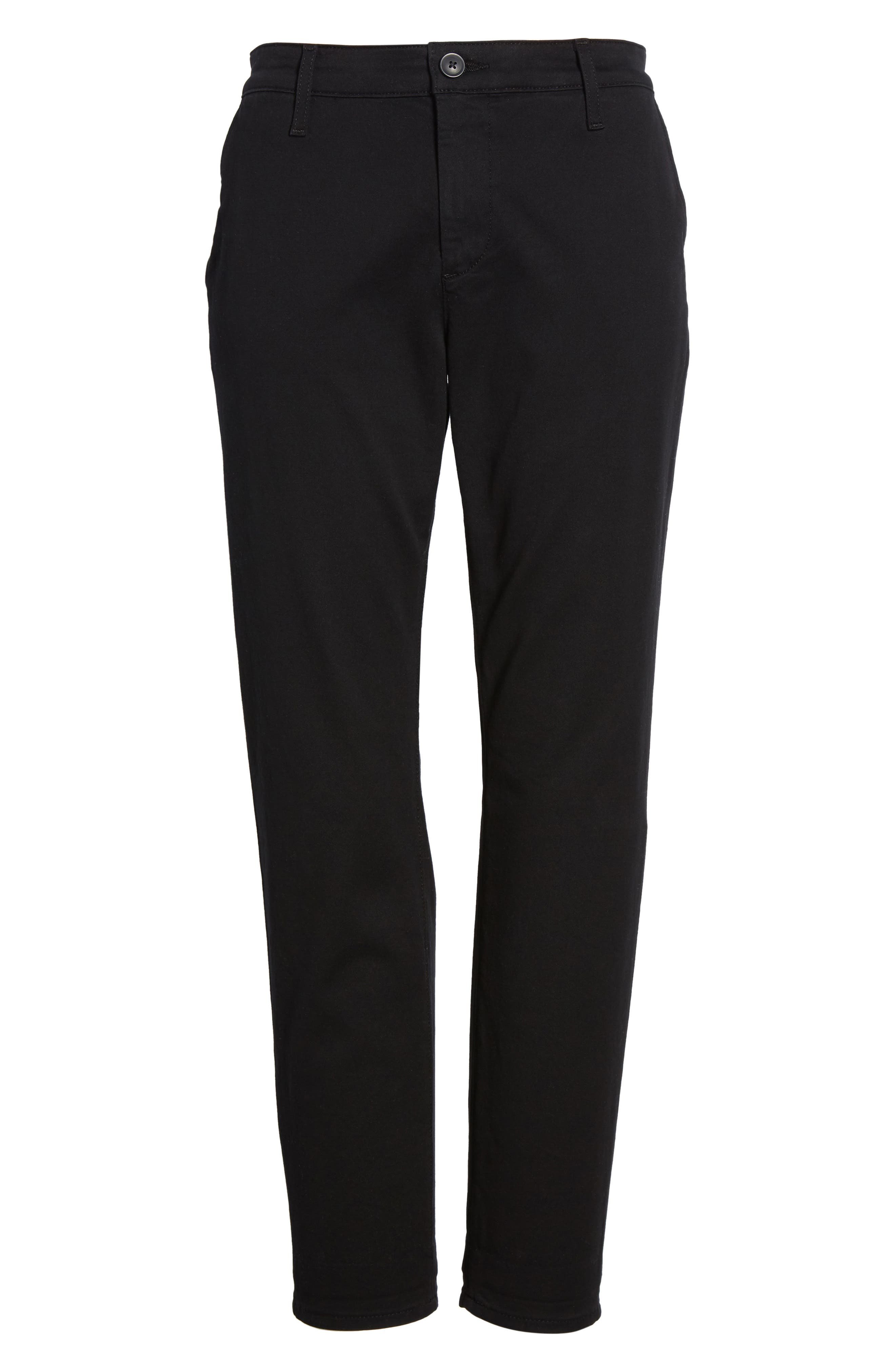 Caden Crop Twill Trousers,                             Alternate thumbnail 7, color,                             010