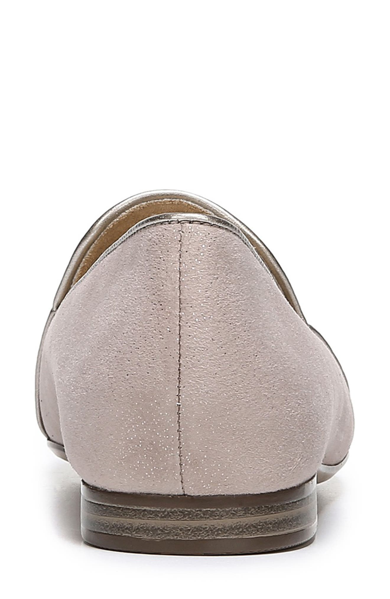 Emiline 2 Loafer,                             Alternate thumbnail 7, color,                             TAUPE GLITTER DUST SUEDE