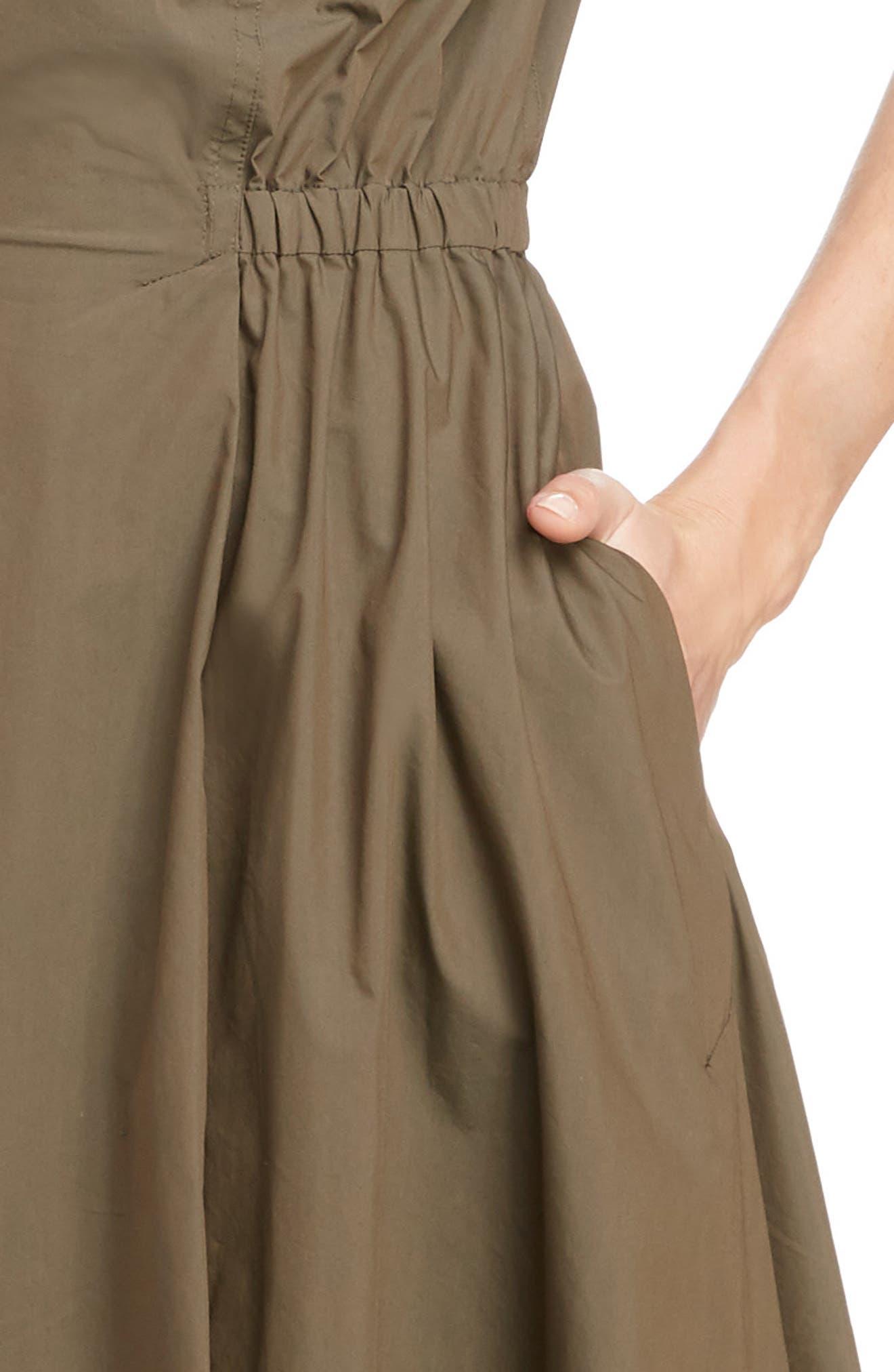 TOGA,                             Trench Taffeta Shirtdress,                             Alternate thumbnail 4, color,                             BROWN