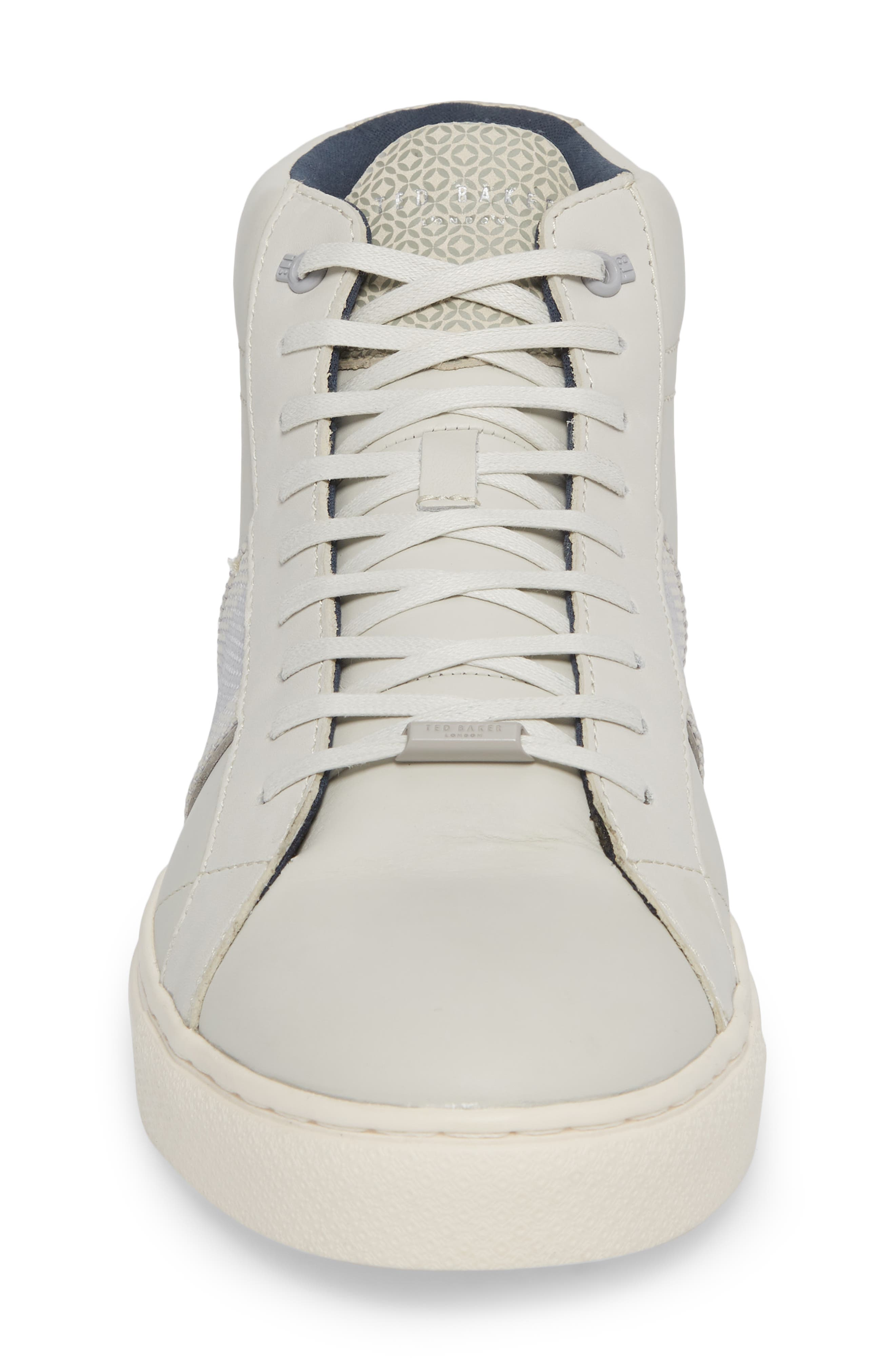 Cruuw High Top Sneaker,                             Alternate thumbnail 4, color,                             WHITE LEATHER