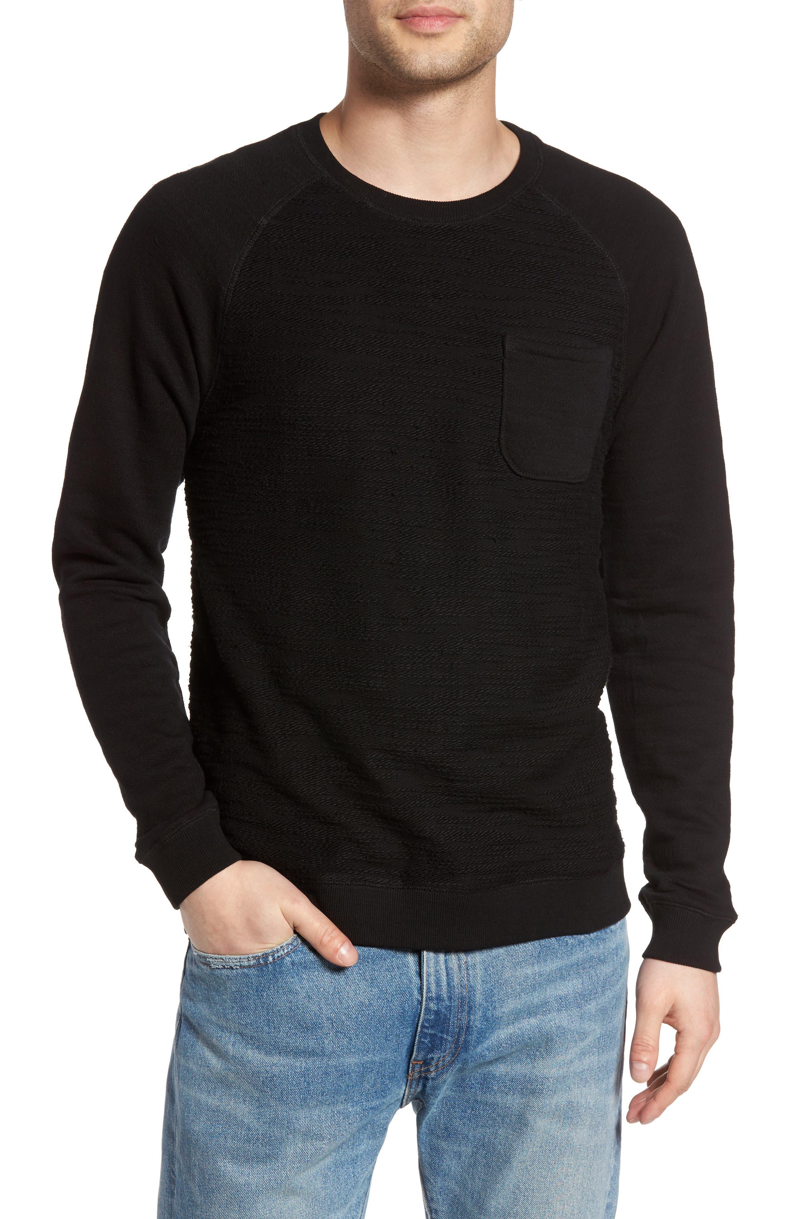 Frey Slubbed Pocket Sweatshirt,                         Main,                         color, 001