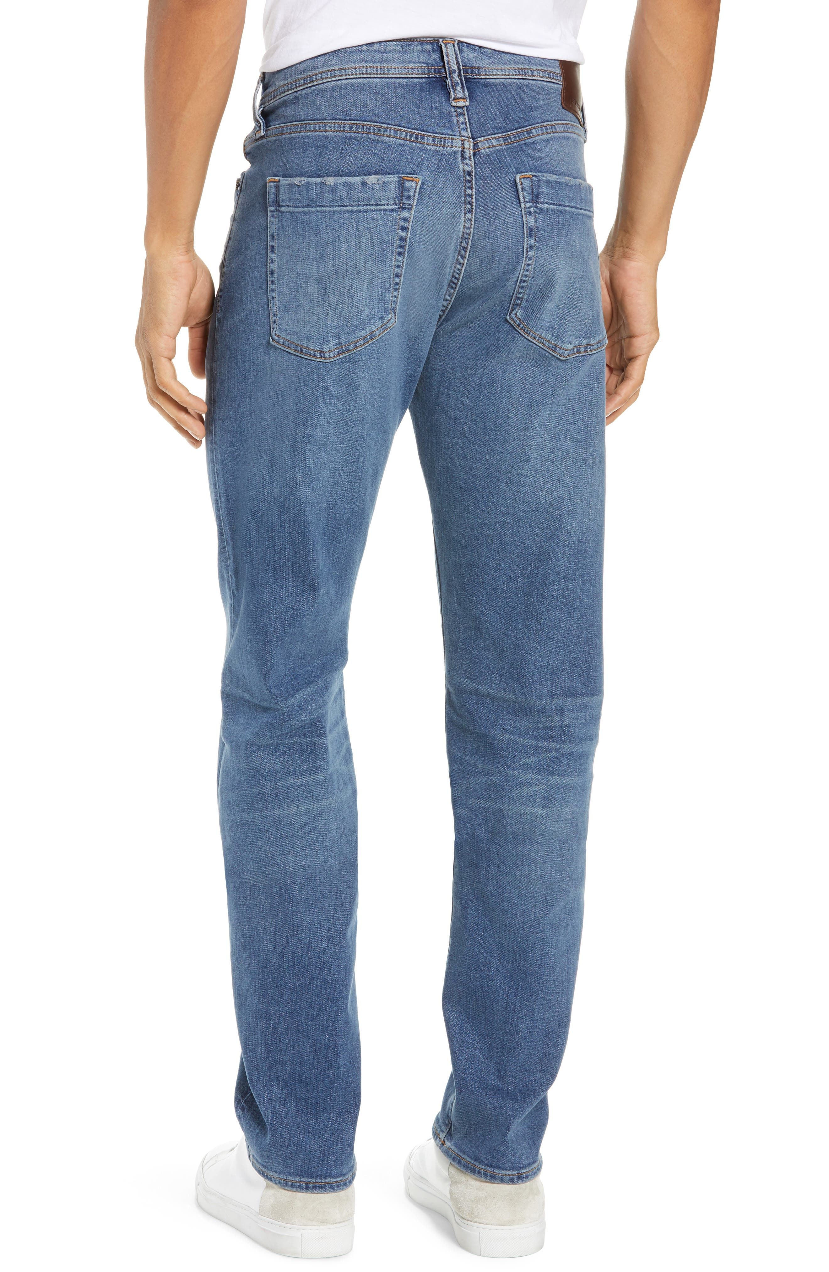 Automatic Straight Leg Jeans,                             Alternate thumbnail 2, color,                             FADED INDIGO