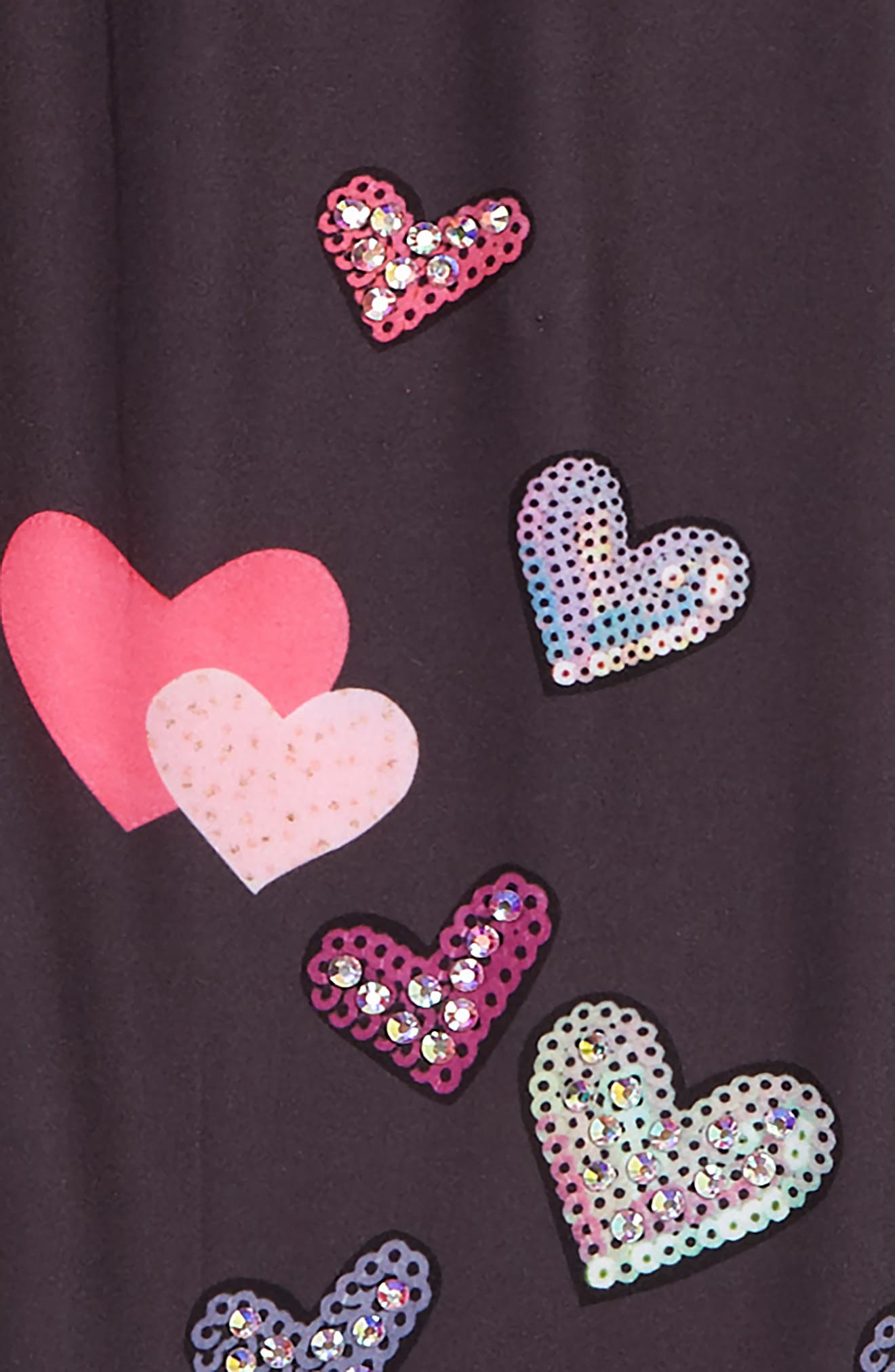 TRULY ME,                             Crystal Embellished Heart Leggings,                             Alternate thumbnail 2, color,                             065