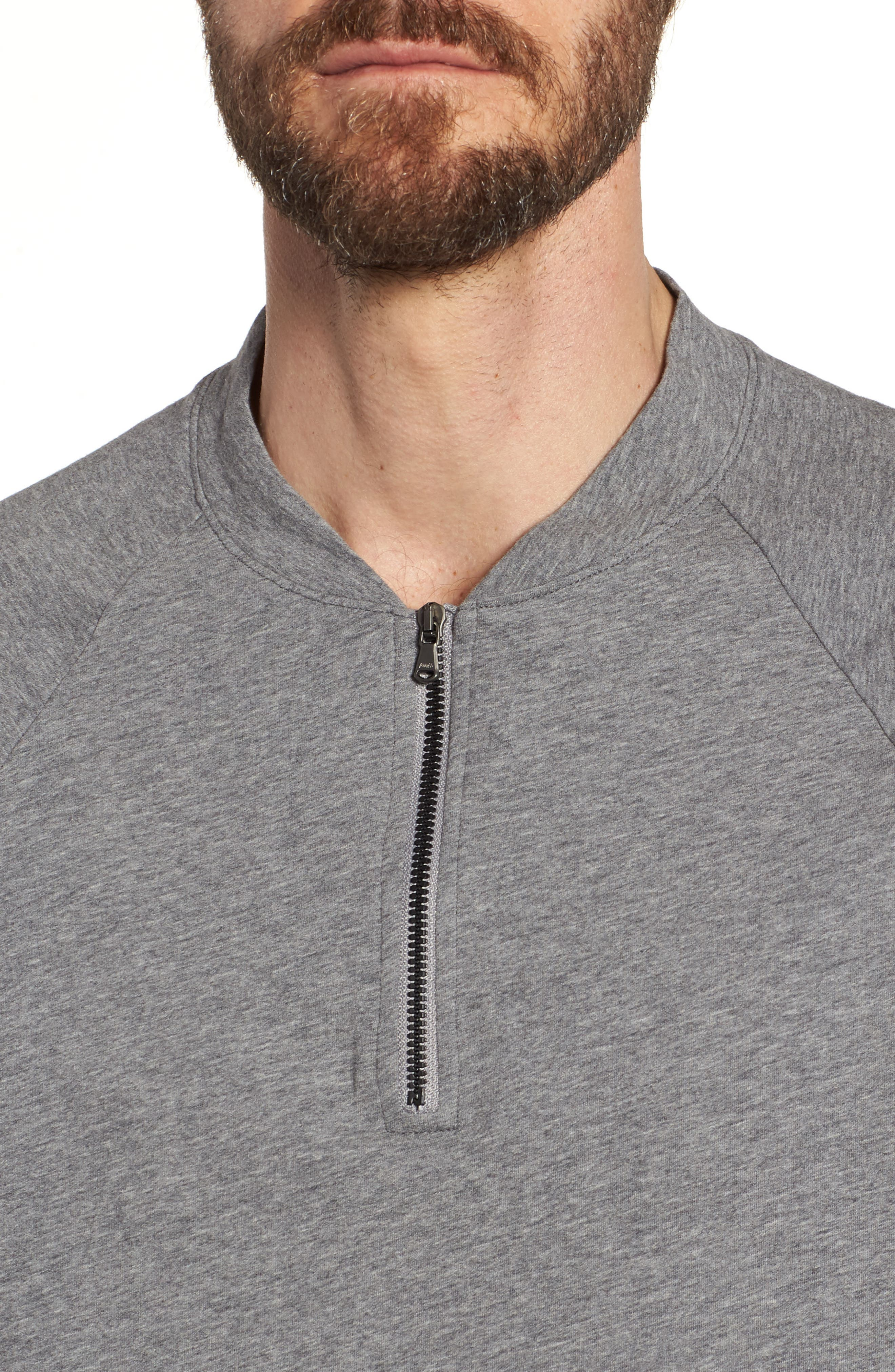 Regular Fit Half Zip Baseball Pullover,                             Alternate thumbnail 8, color,