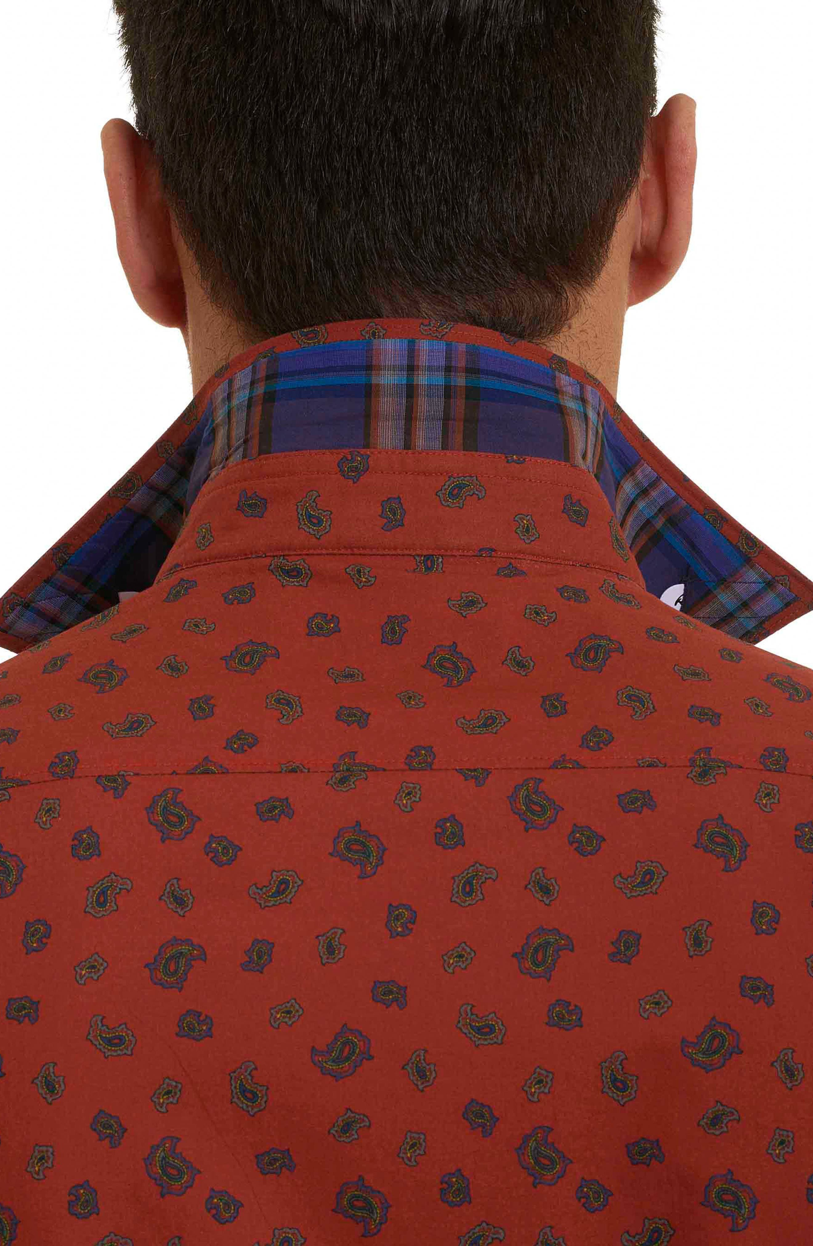 Cold Spring Classic Fit Paisley Sport Shirt,                             Alternate thumbnail 12, color,