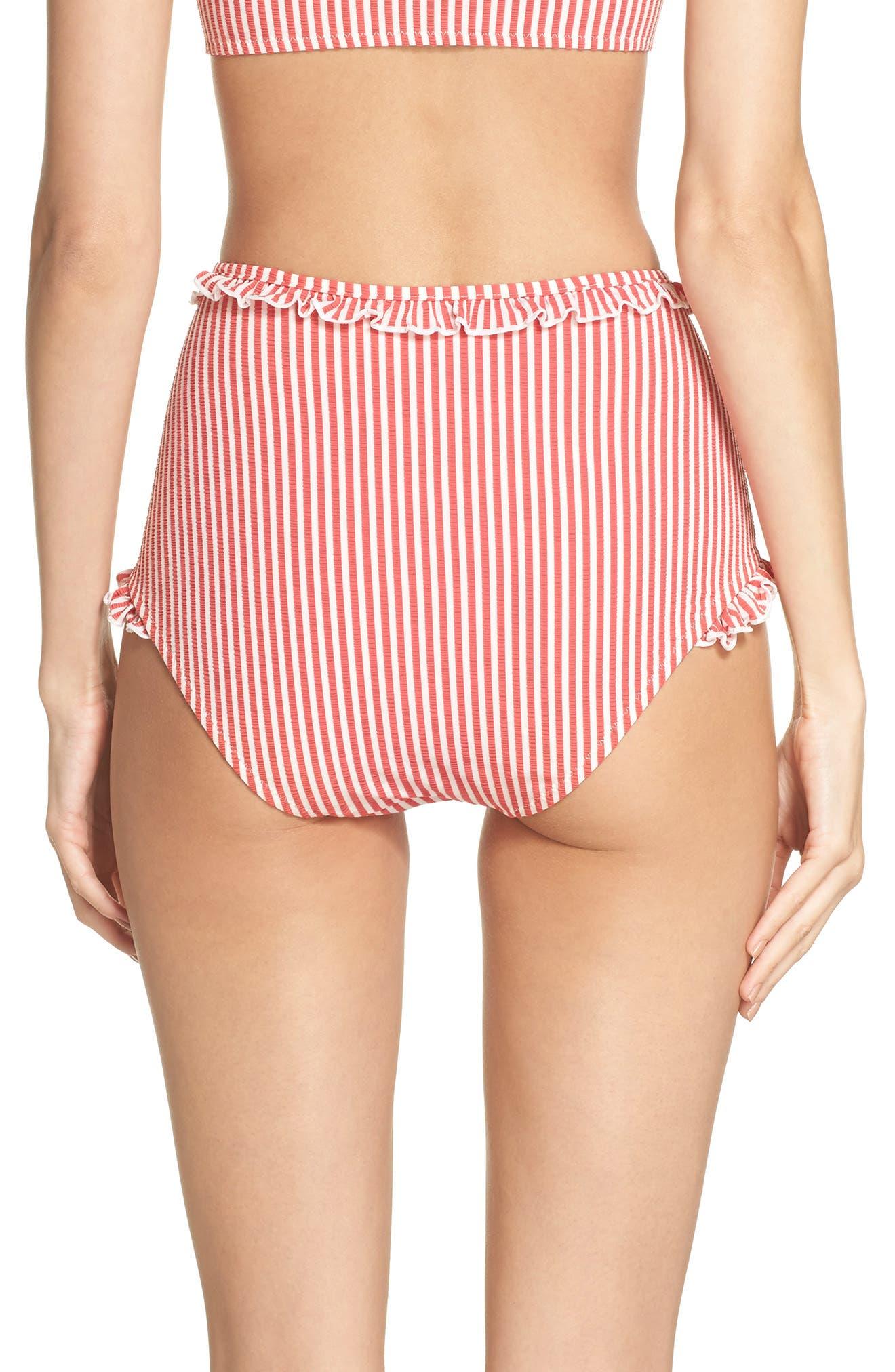 The Leslie High Waist Bikini Bottoms,                             Alternate thumbnail 2, color,                             600