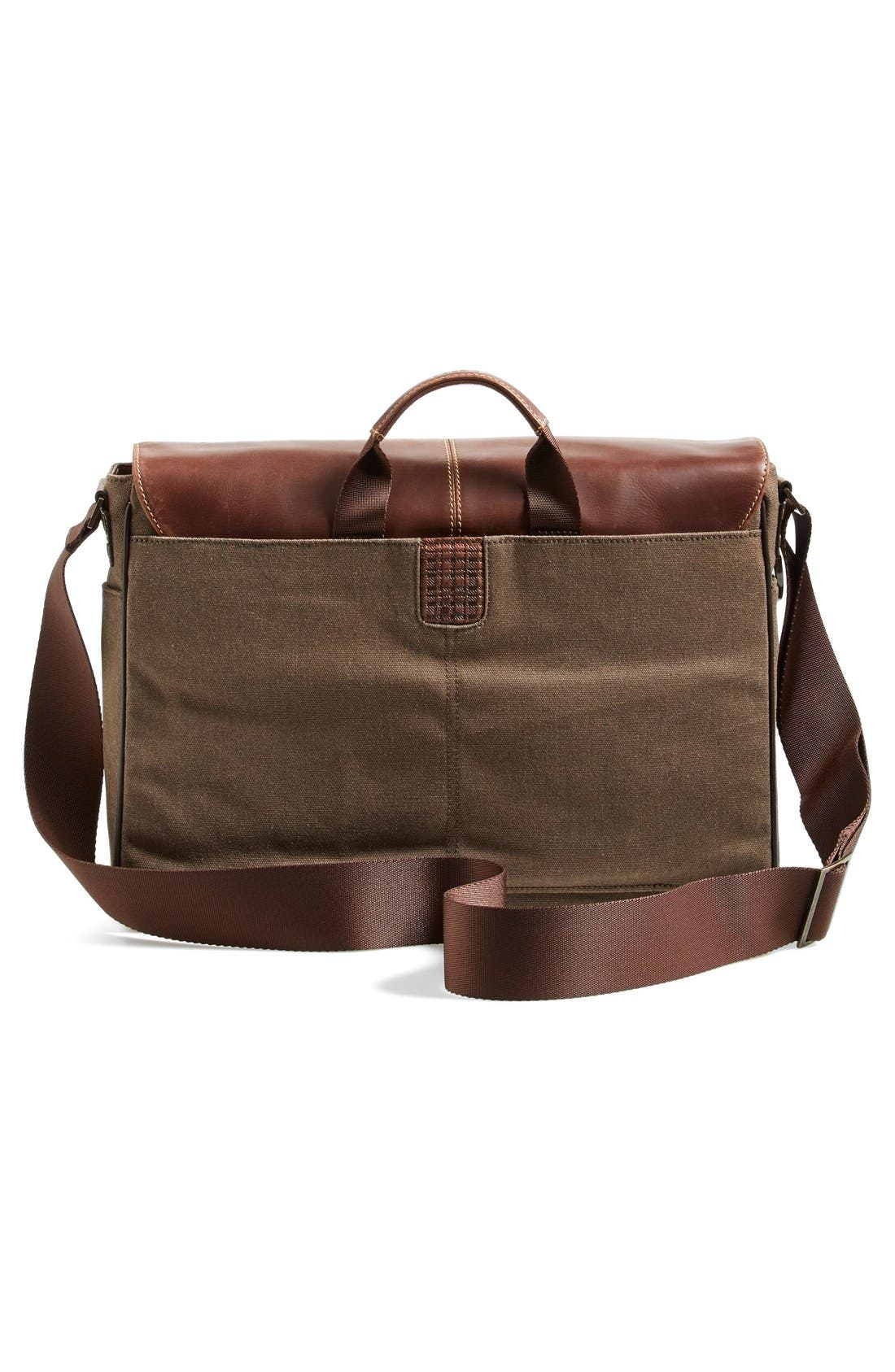 'Bryant' Messenger Bag,                             Alternate thumbnail 5, color,                             HEATHER BROWN
