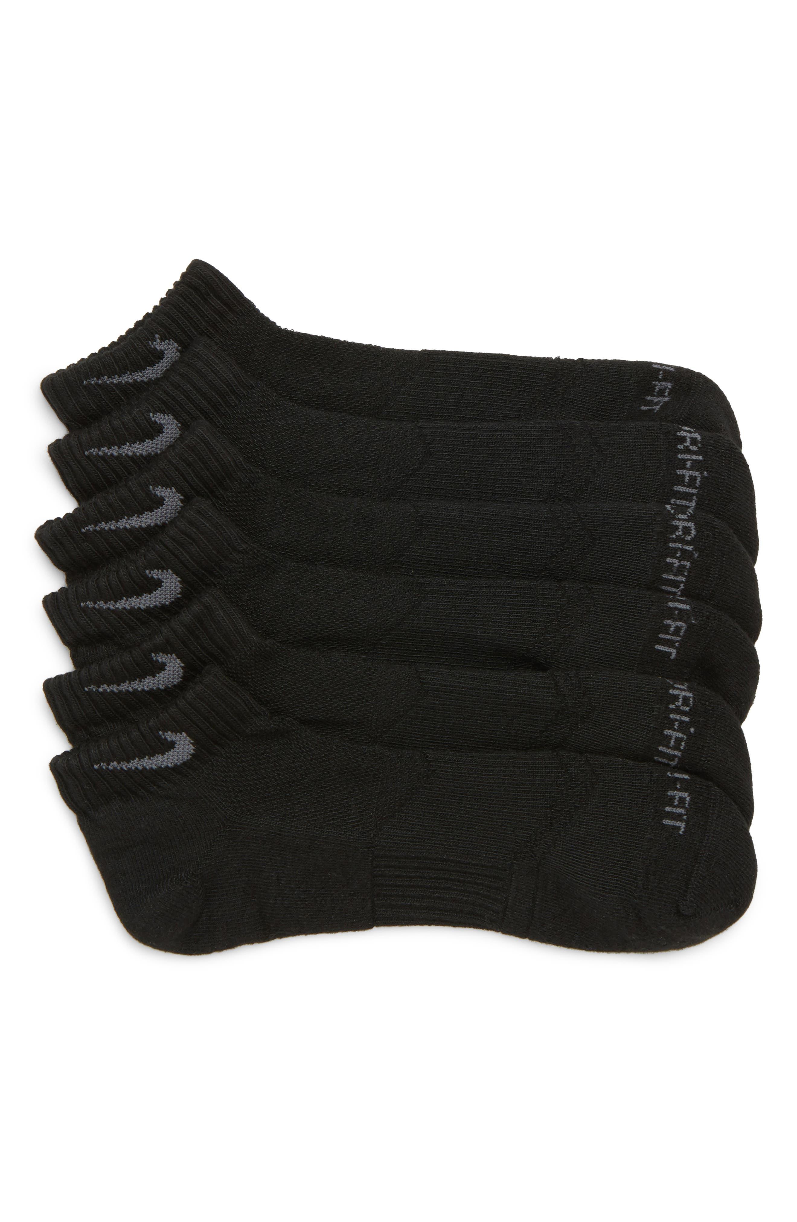 3-Pack Cushioned Dry No-Show Socks,                             Main thumbnail 1, color,                             001