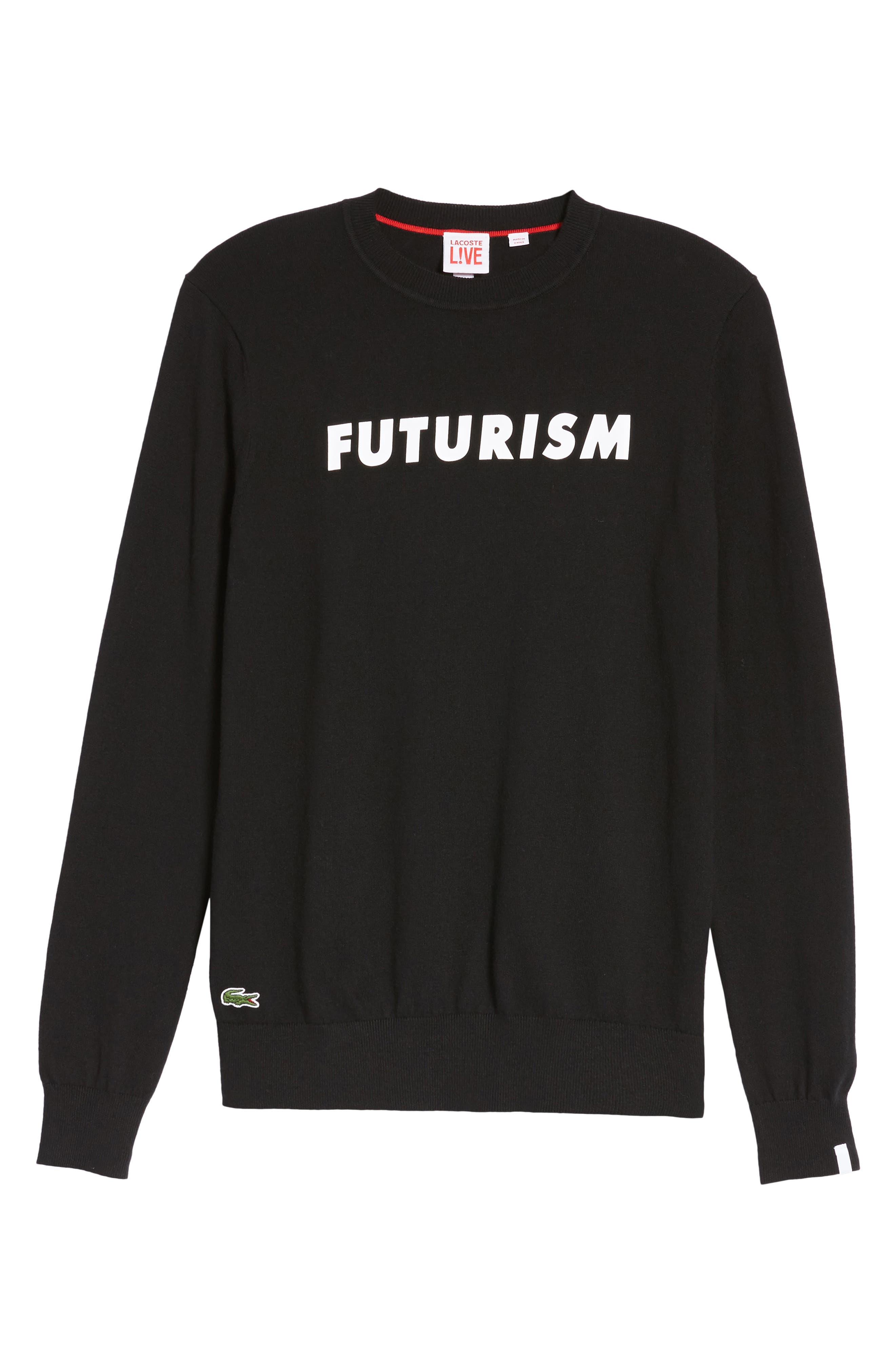 Futurism Graphic Sweater,                             Alternate thumbnail 6, color,                             001