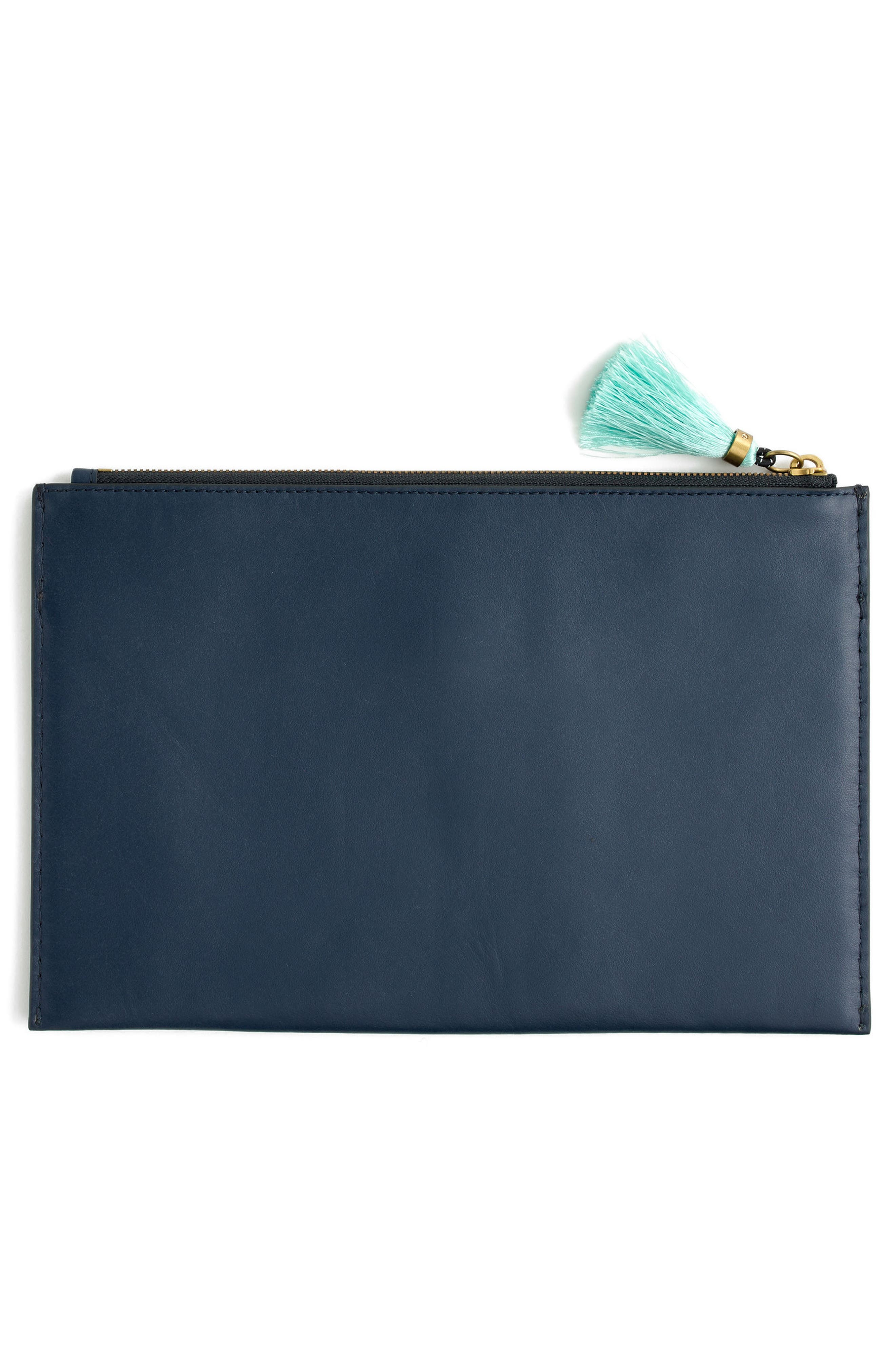 Large Stamped Croc Leather Pouch,                             Alternate thumbnail 2, color,