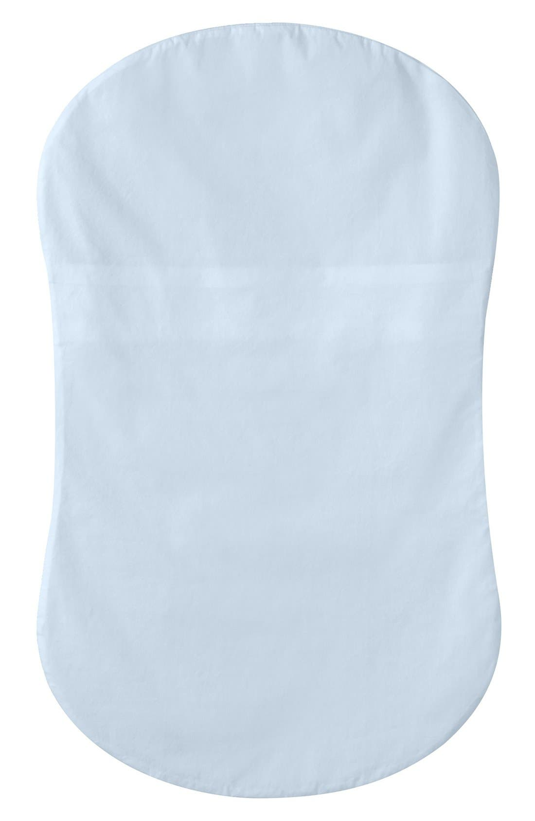 Cotton Fitted Sheet for Halo<sup>®</sup> Bassinest<sup>™</sup> Swivel Sleeper,                         Main,                         color, BLUE