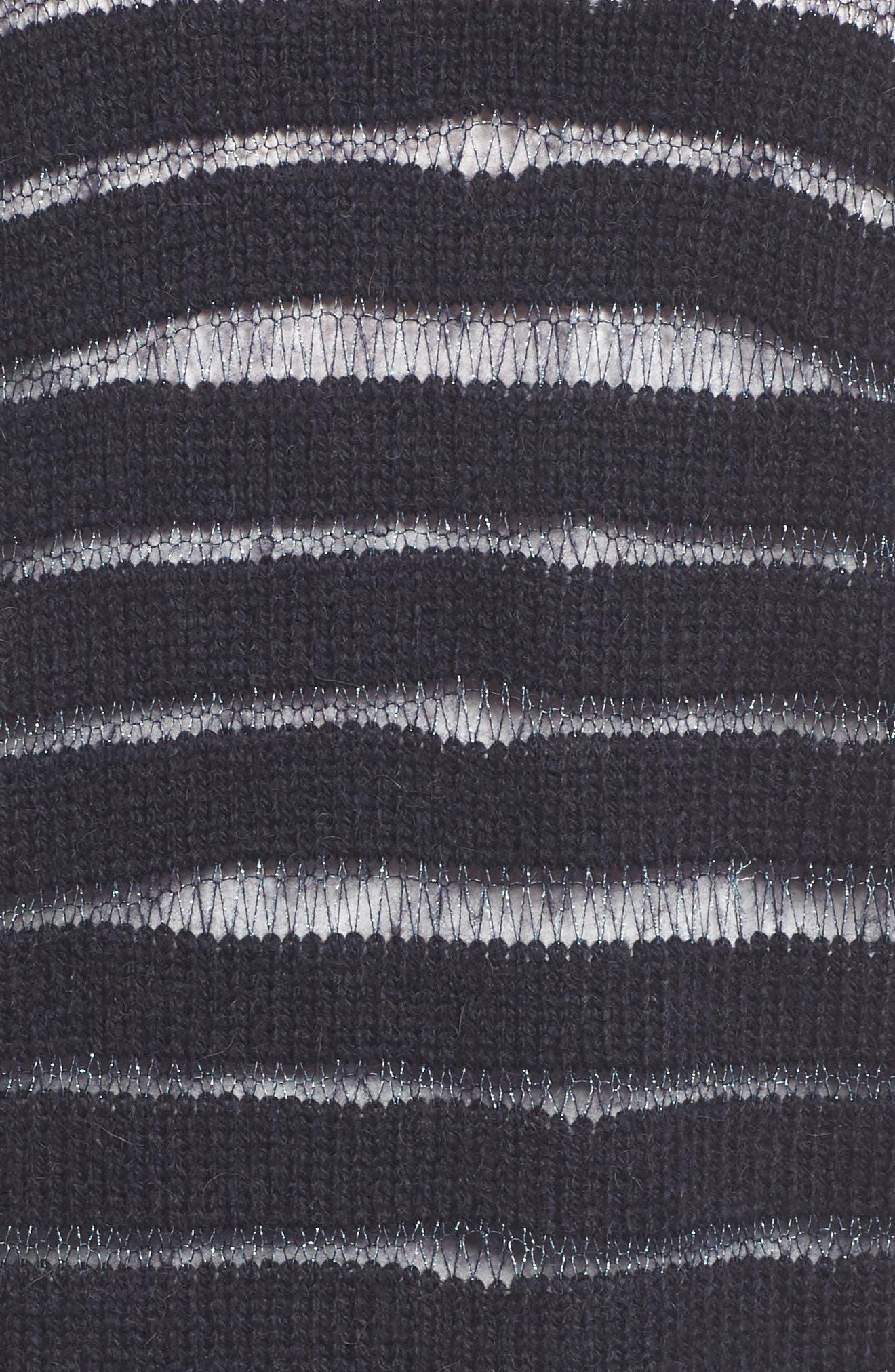 Metallic Striped Cardigan,                             Alternate thumbnail 8, color,