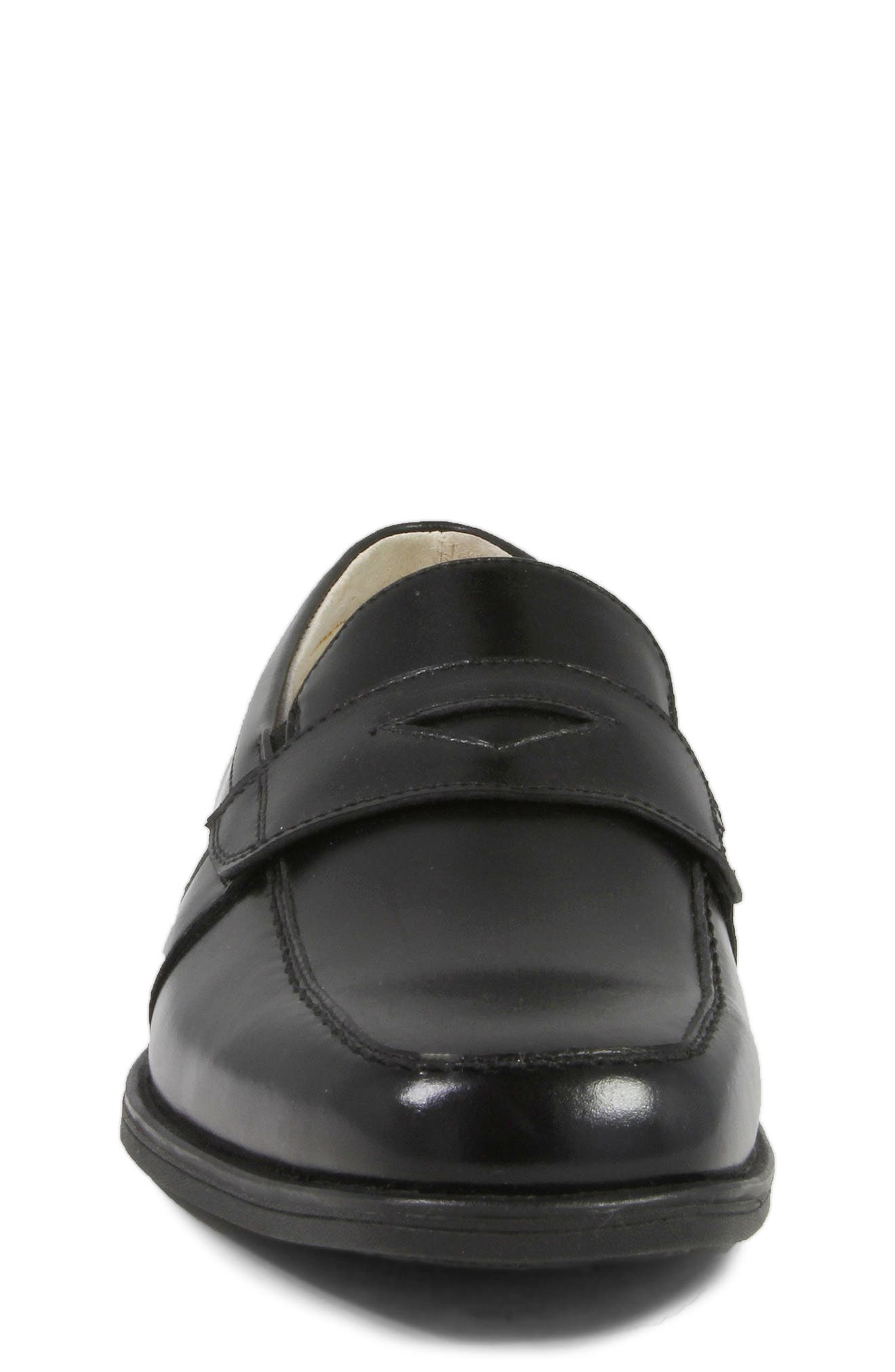 'Reveal' Penny Loafer,                             Alternate thumbnail 4, color,                             BLACK