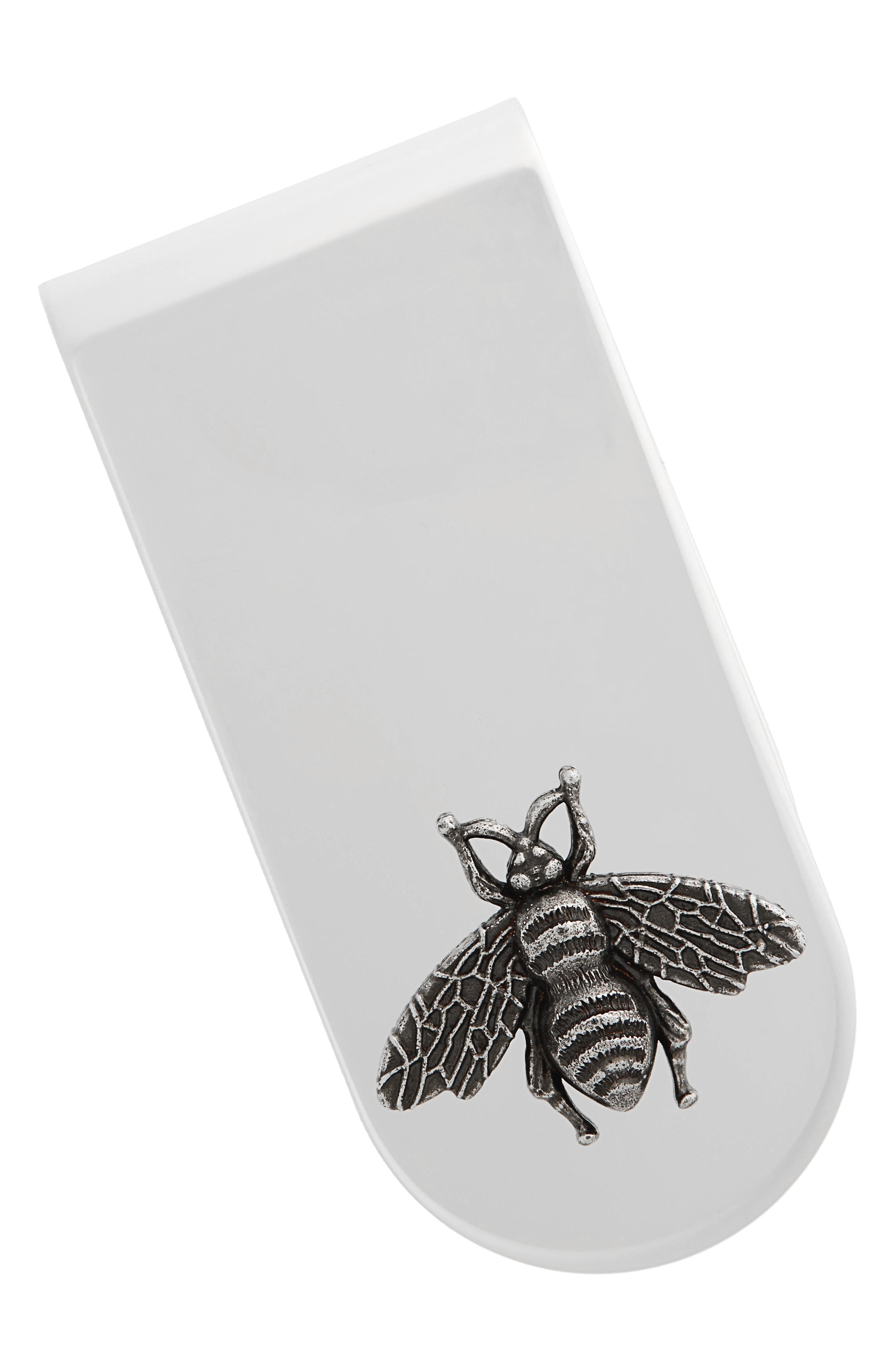 Bee Insignia Brass Money Clip,                         Main,                         color, SILVER