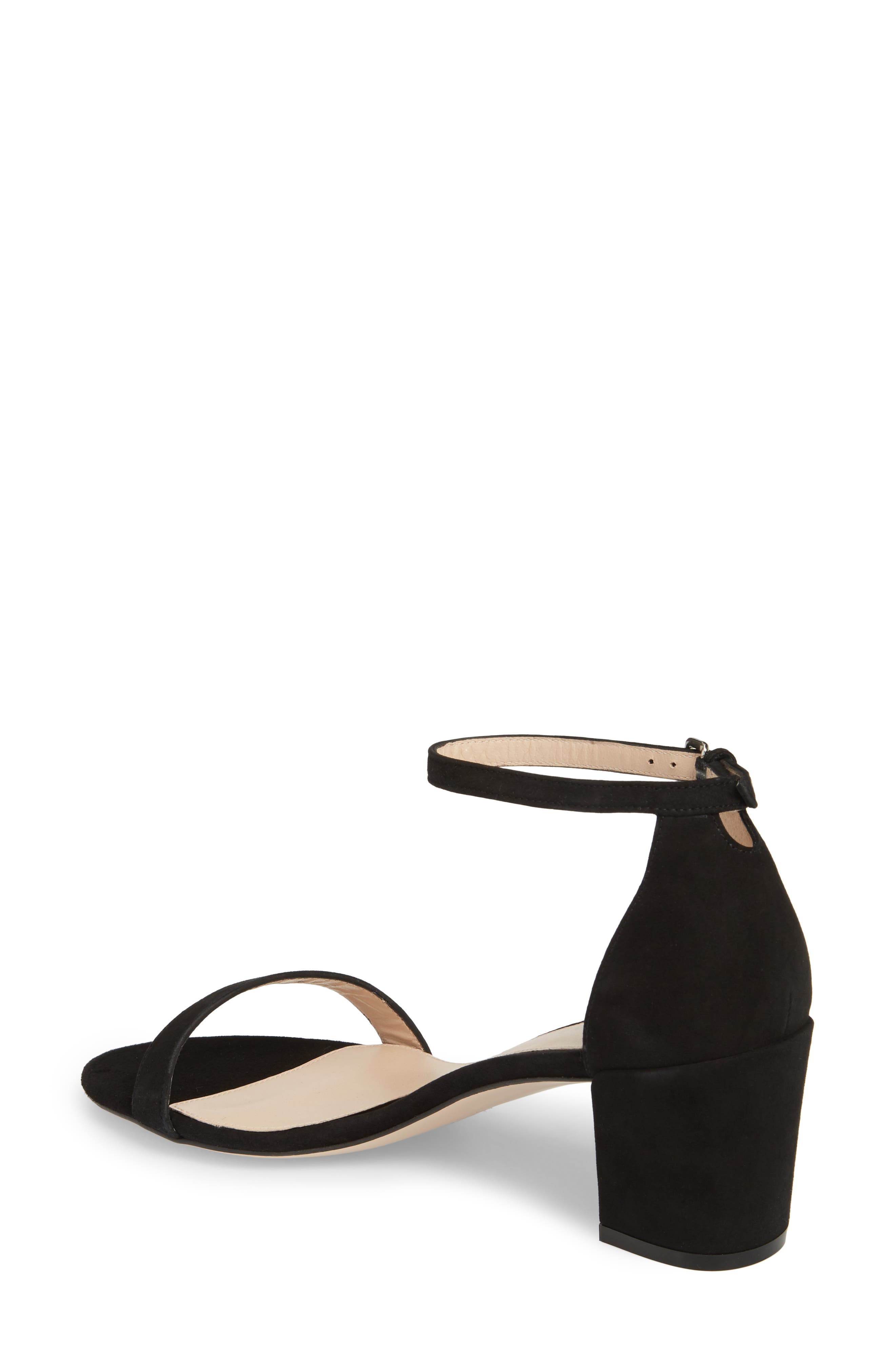 Simple Ankle Strap Sandal,                             Alternate thumbnail 2, color,                             BLACK SUEDE