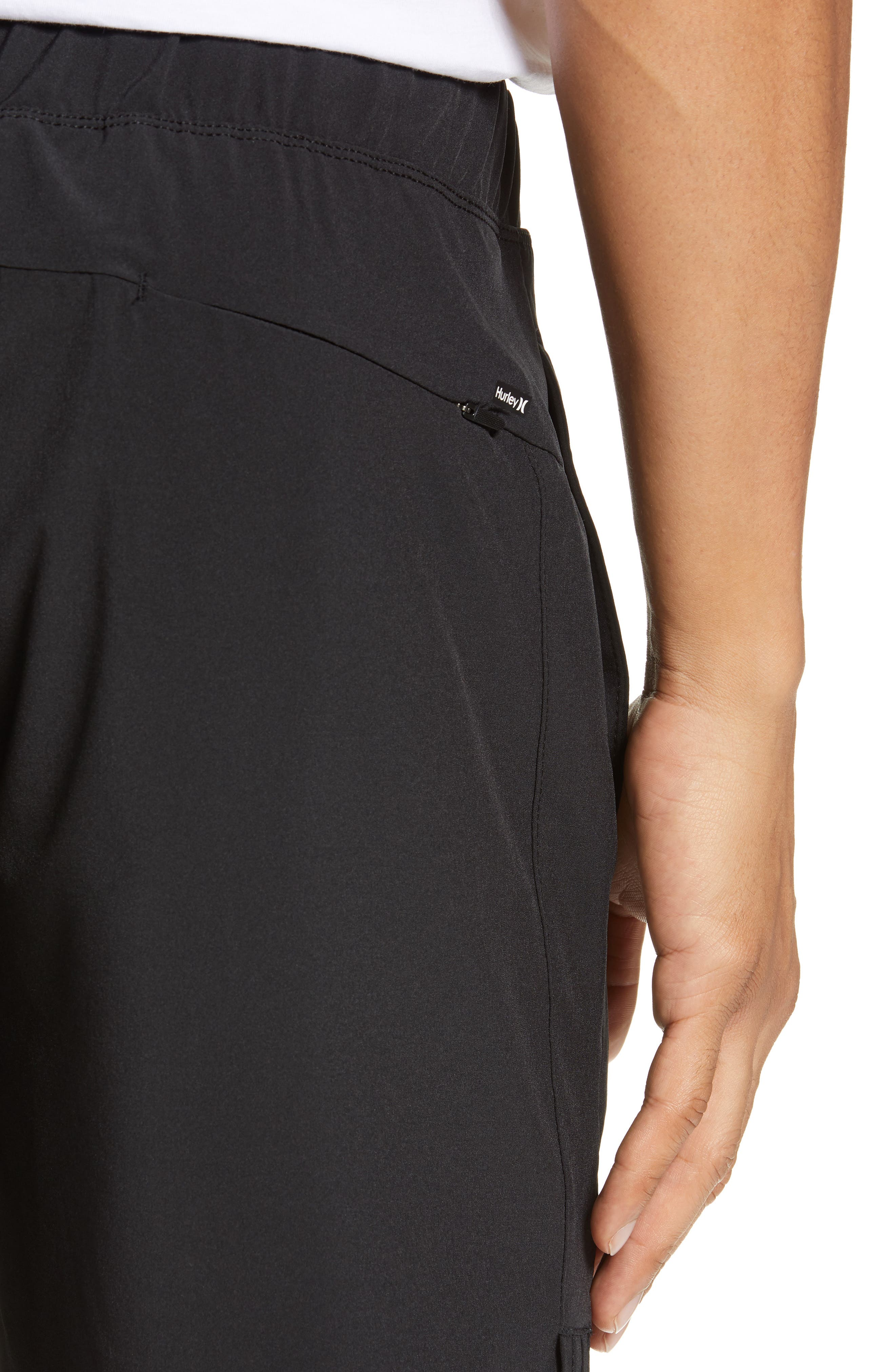 Alpha Trainer 2.0 Recycled Polyester Shorts,                             Alternate thumbnail 4, color,                             BLACK