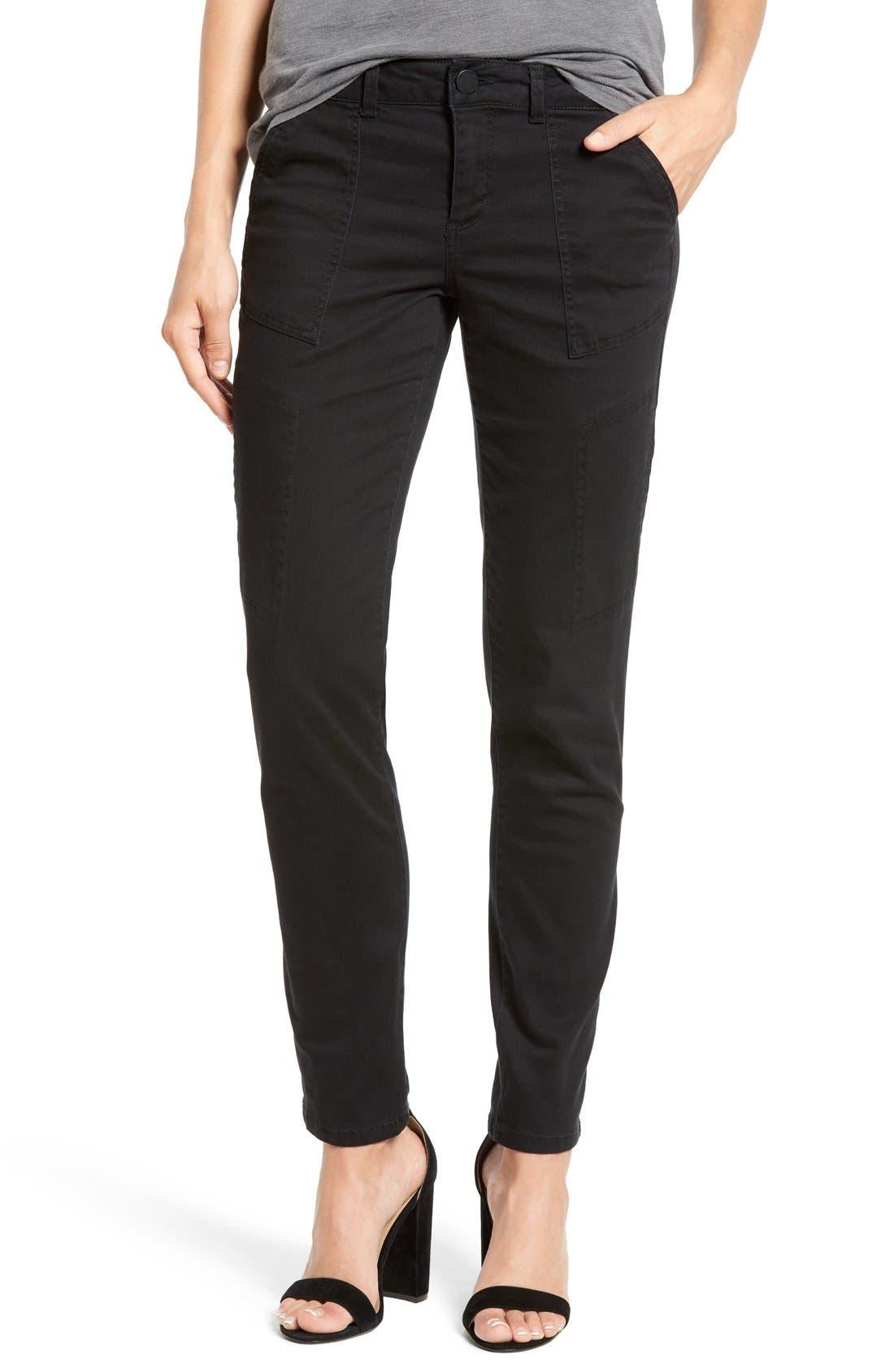 Skinny Cargo Pants,                         Main,                         color, 001