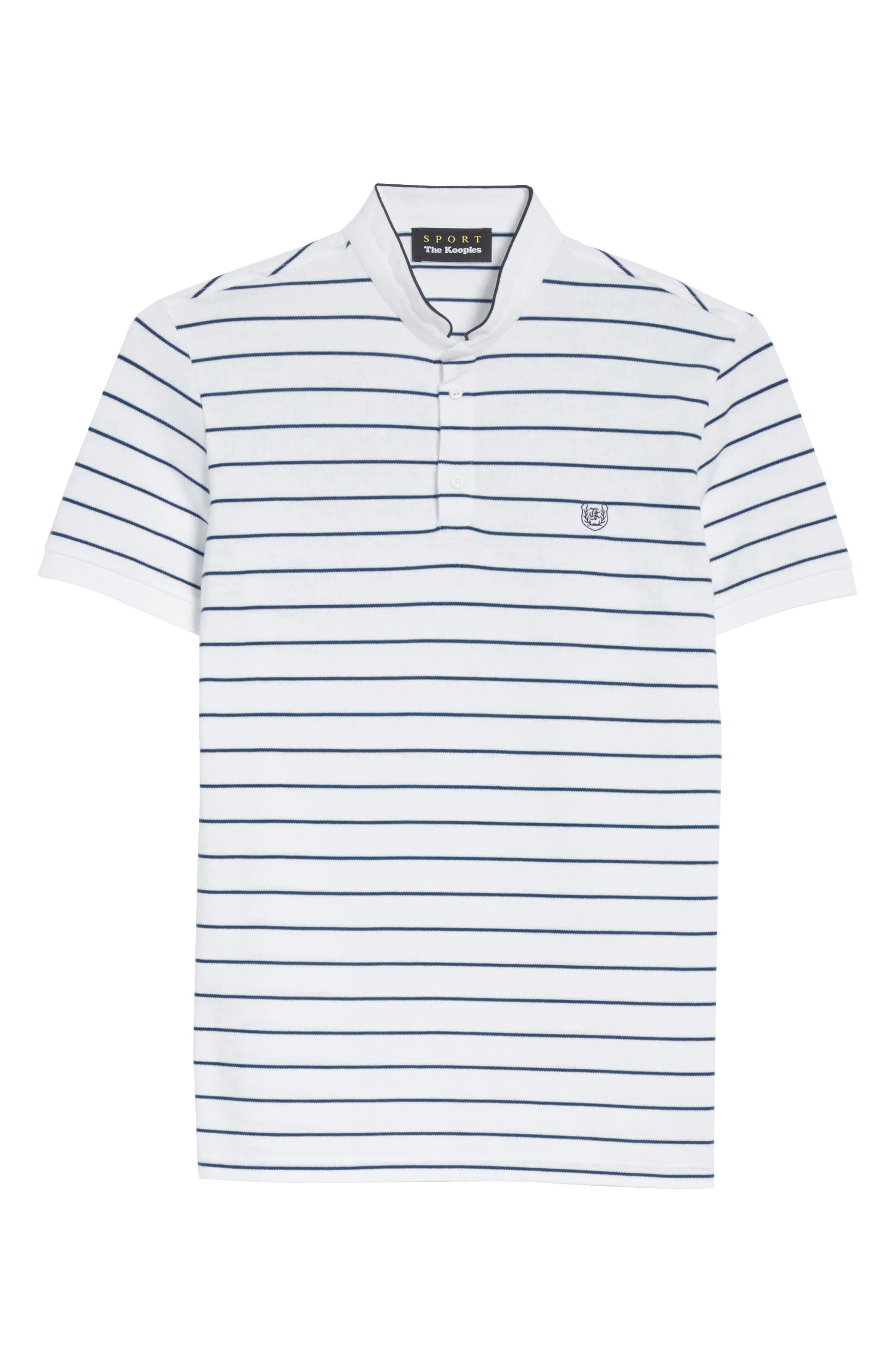 Stripe Officer Polo Shirt,                             Alternate thumbnail 6, color,                             100