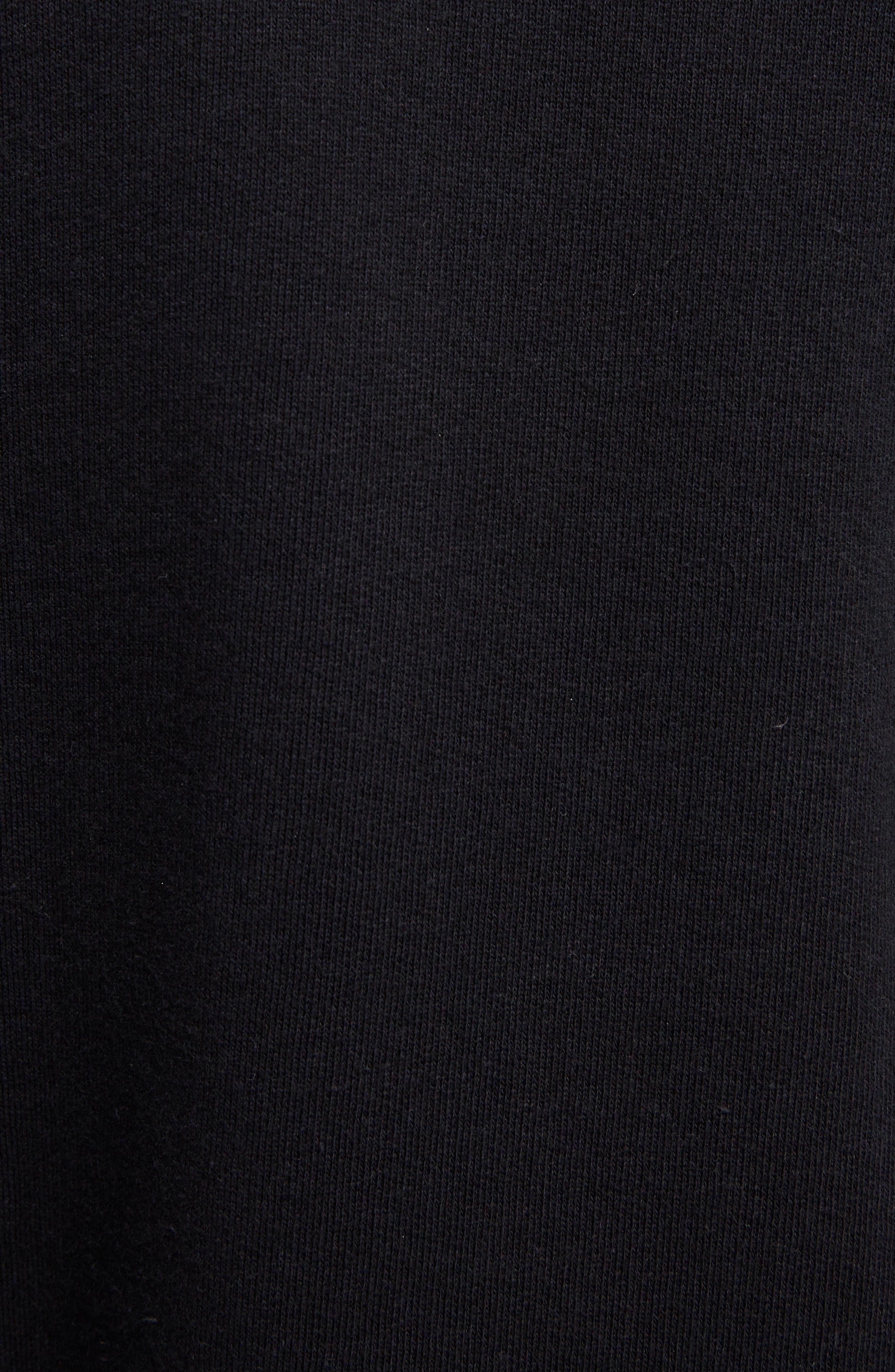 Oslavi Embroidered Moose Sweatshirt,                             Alternate thumbnail 5, color,                             001