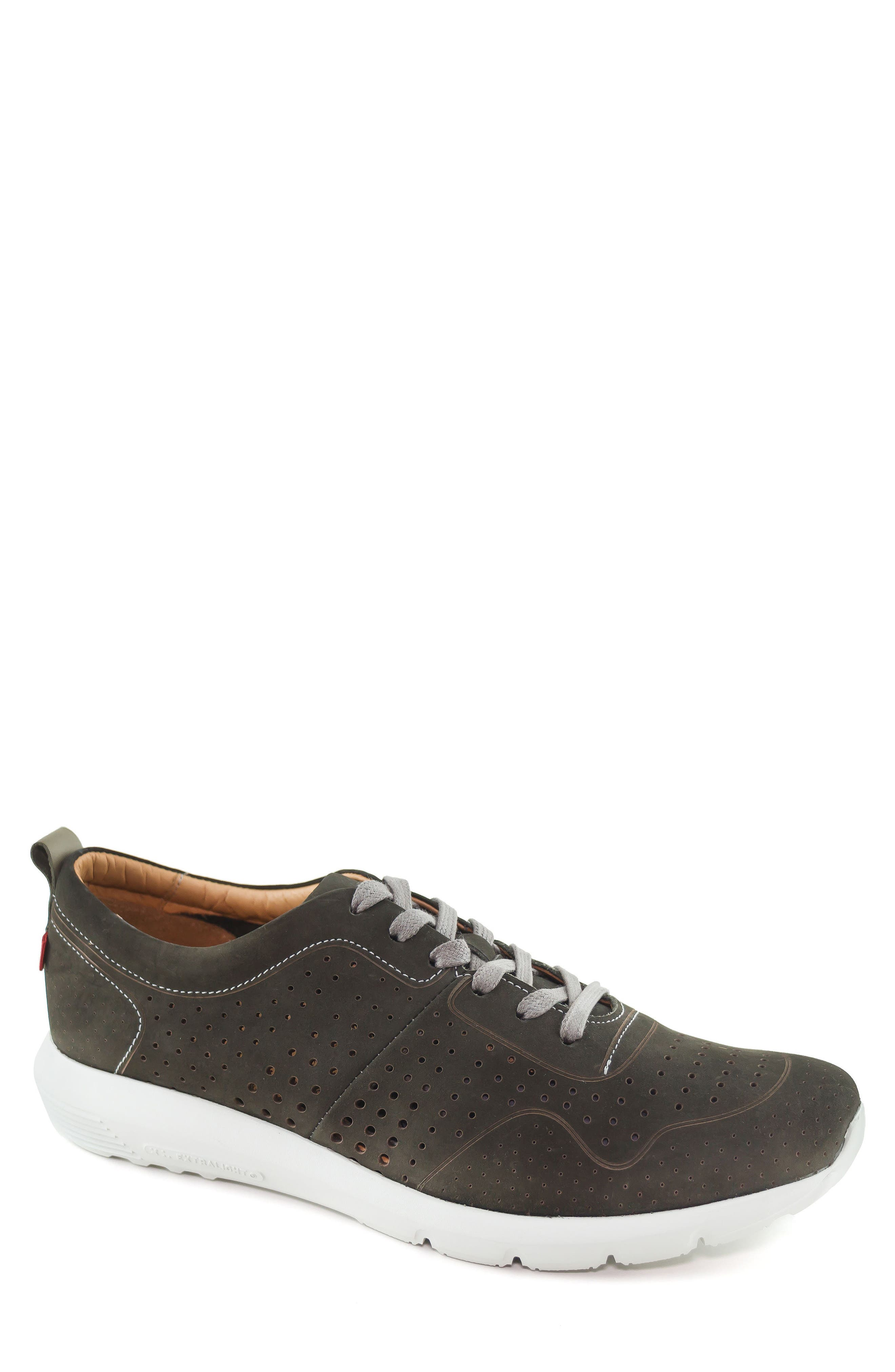 Marc Joseph New York Grand Central Perforated Sneaker- Grey