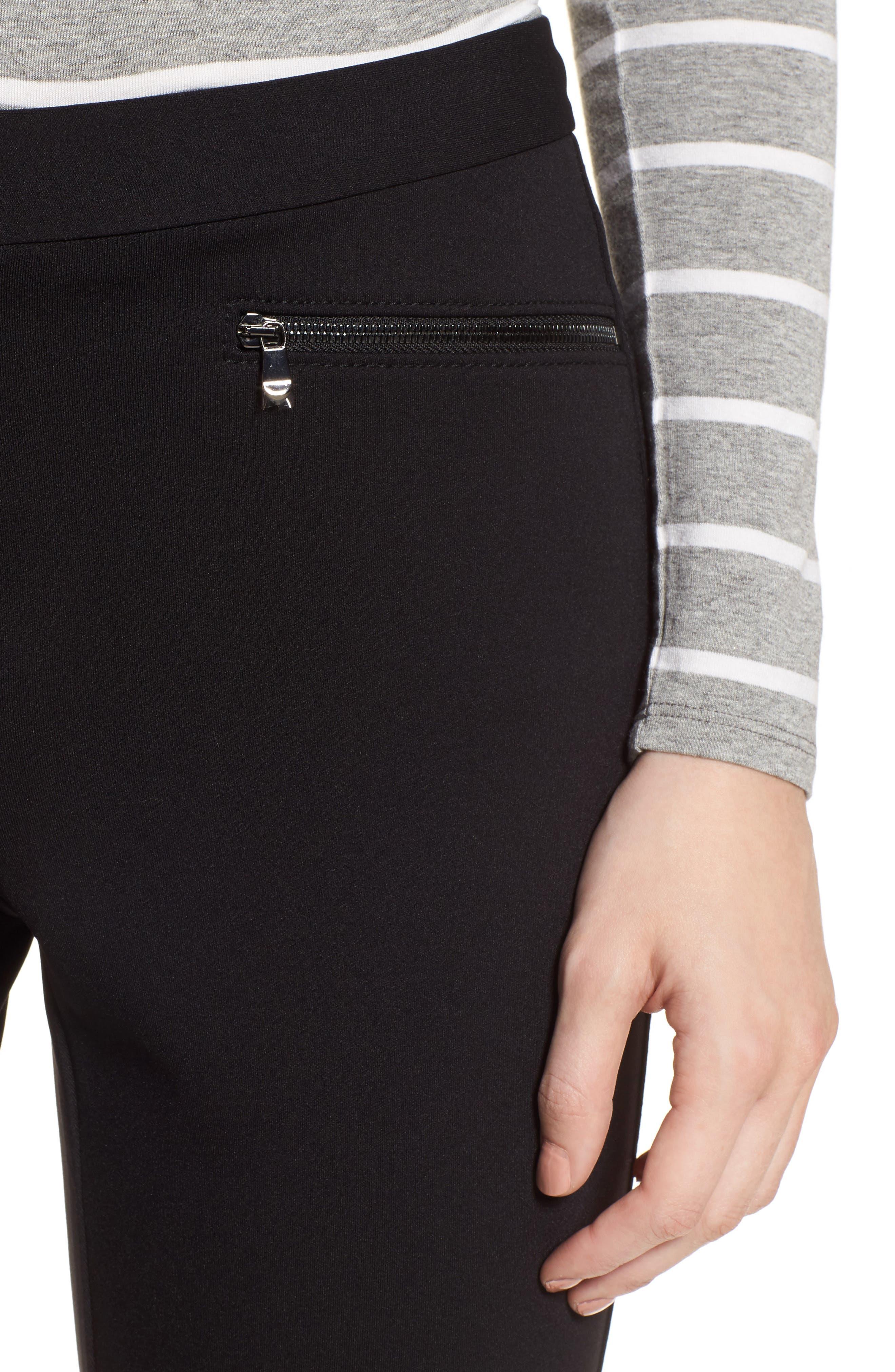 Exposed Zip Knit Pants,                             Alternate thumbnail 4, color,