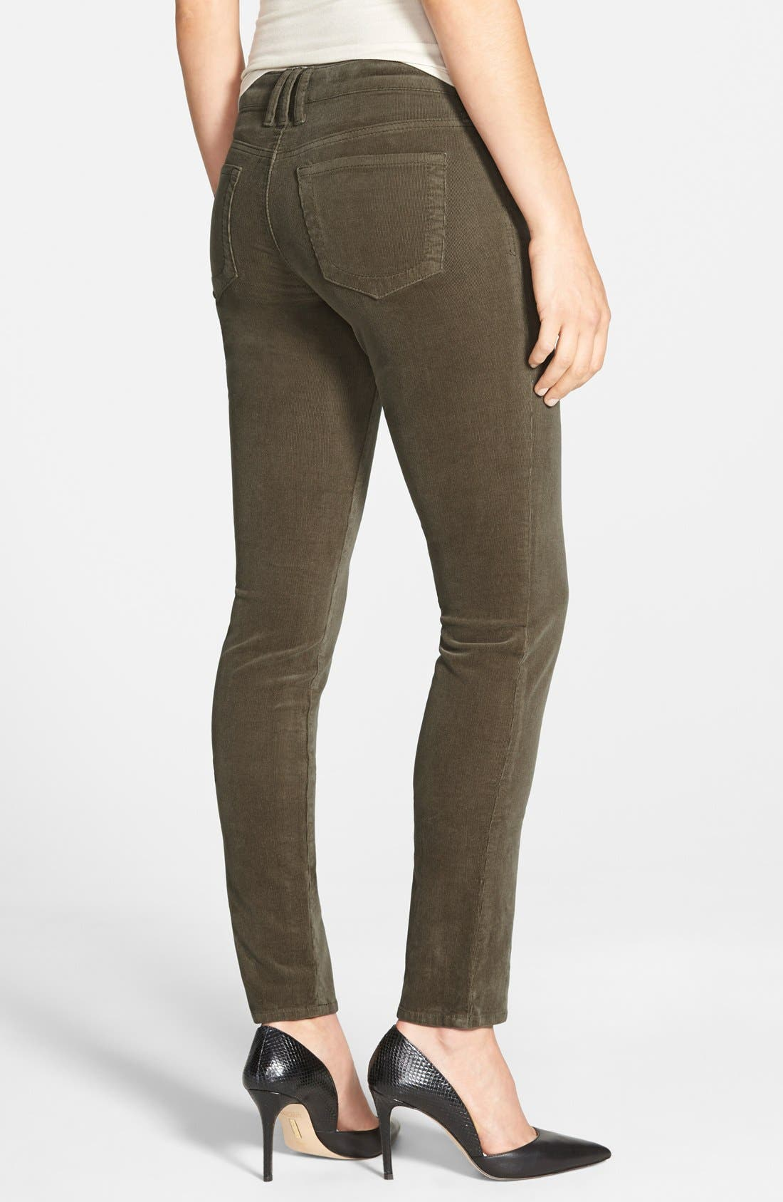 'Diana' Stretch Corduroy Skinny Pants,                             Alternate thumbnail 115, color,