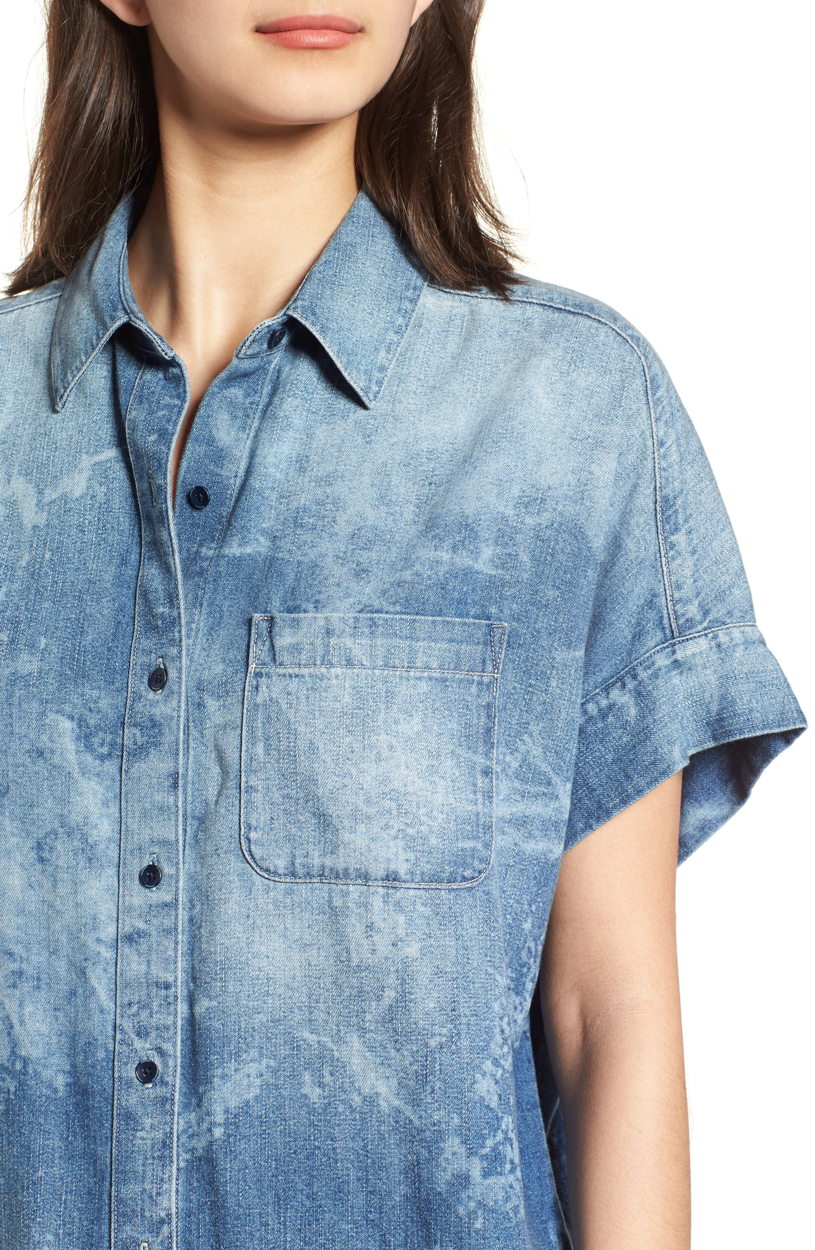 Hadley Denim Shirt,                             Alternate thumbnail 4, color,                             SUBLIME