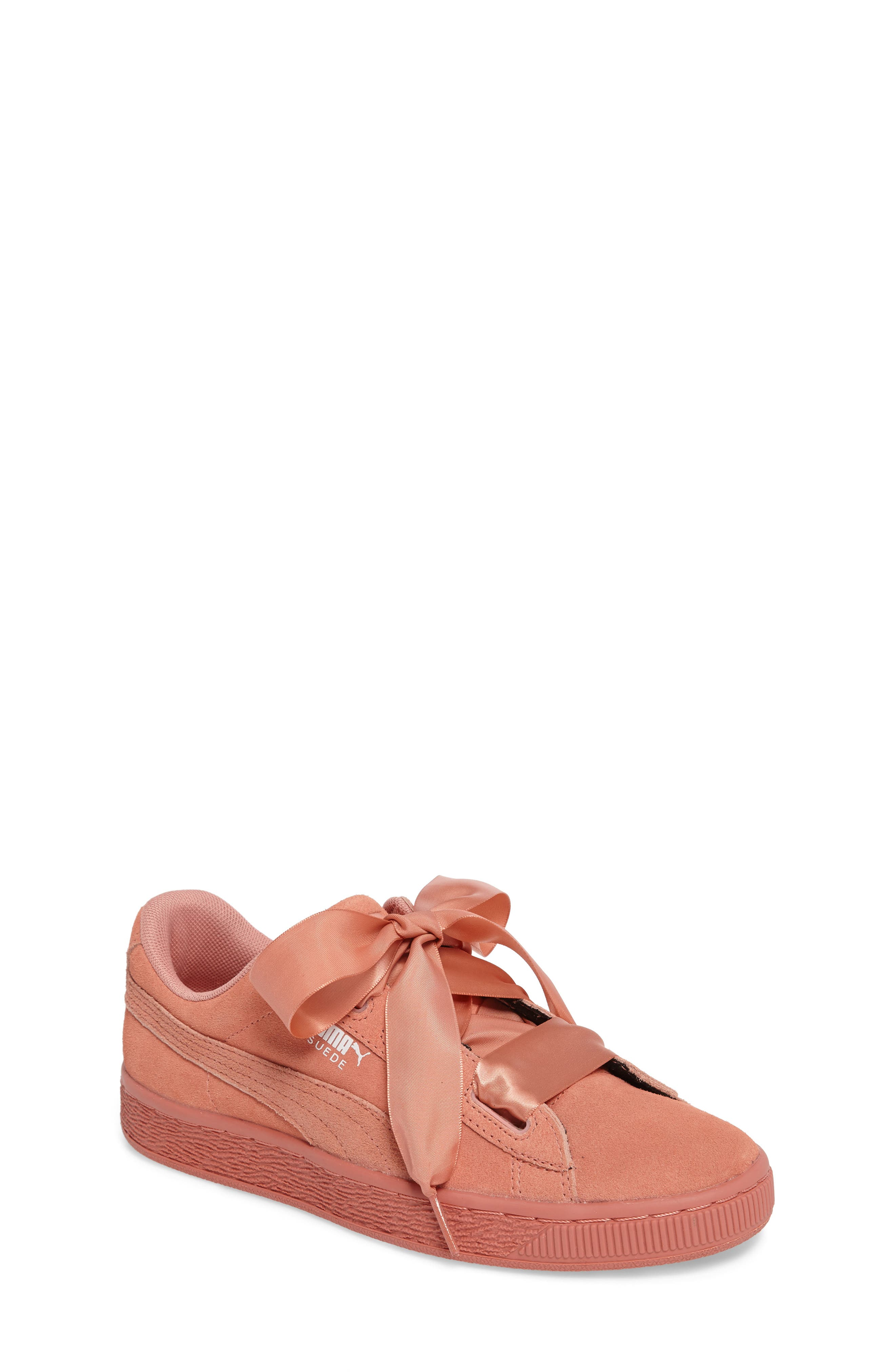 Suede Heart Sneaker,                             Main thumbnail 4, color,