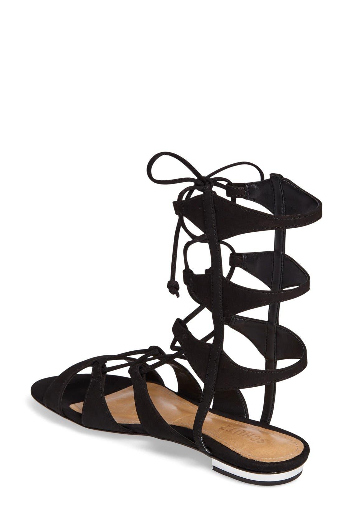 Erlina Lace-Up Sandal,                             Alternate thumbnail 3, color,                             004