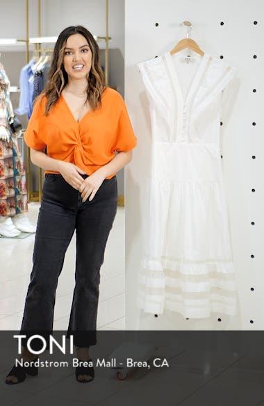 Capri Ladder Stitch Trim Midi Dress, sales video thumbnail