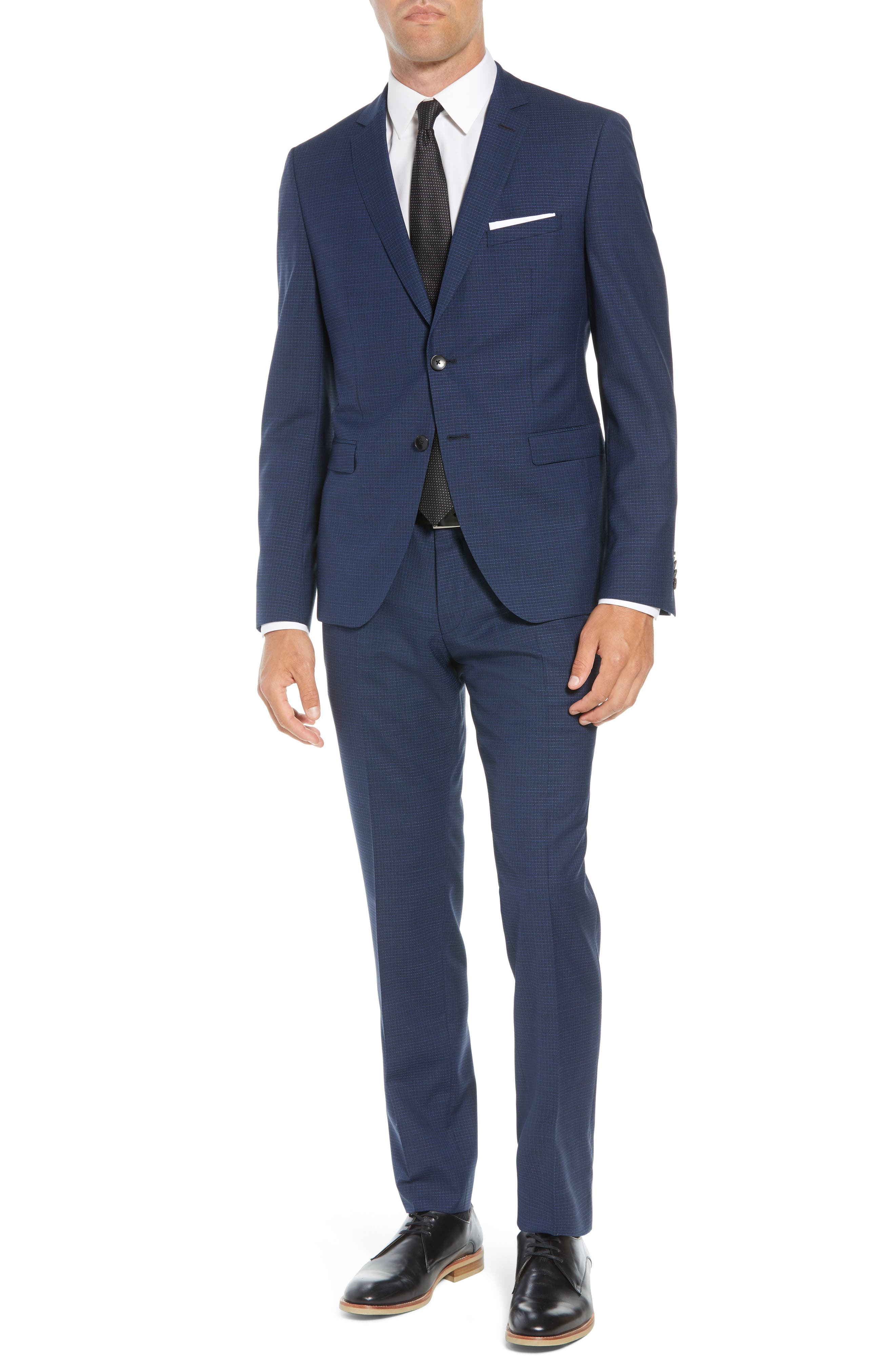Reymond/Wenten Extra Trim Fit Check Wool Suit,                             Main thumbnail 1, color,                             480