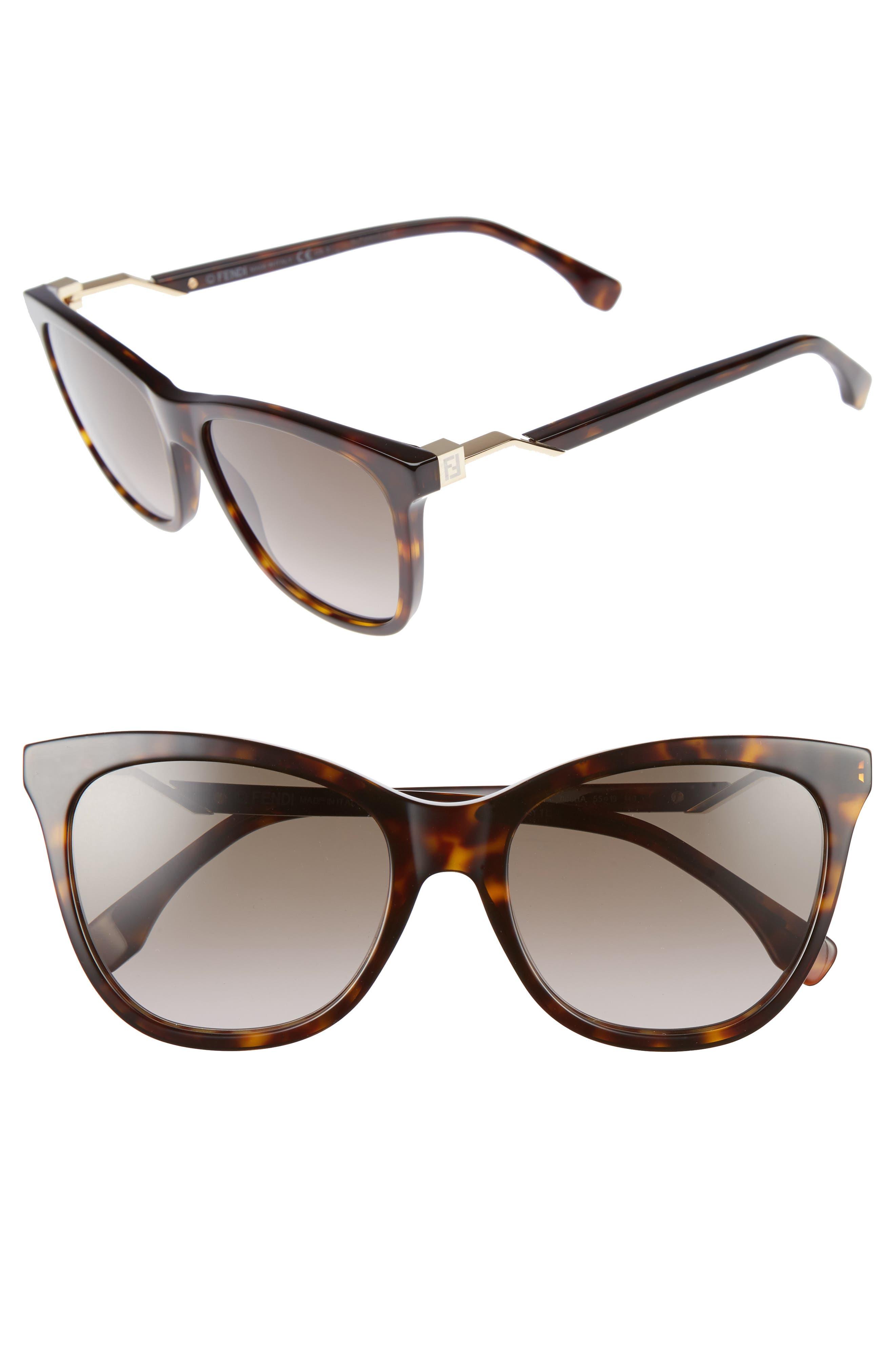 55mm Cube Retro Sunglasses,                             Alternate thumbnail 4, color,