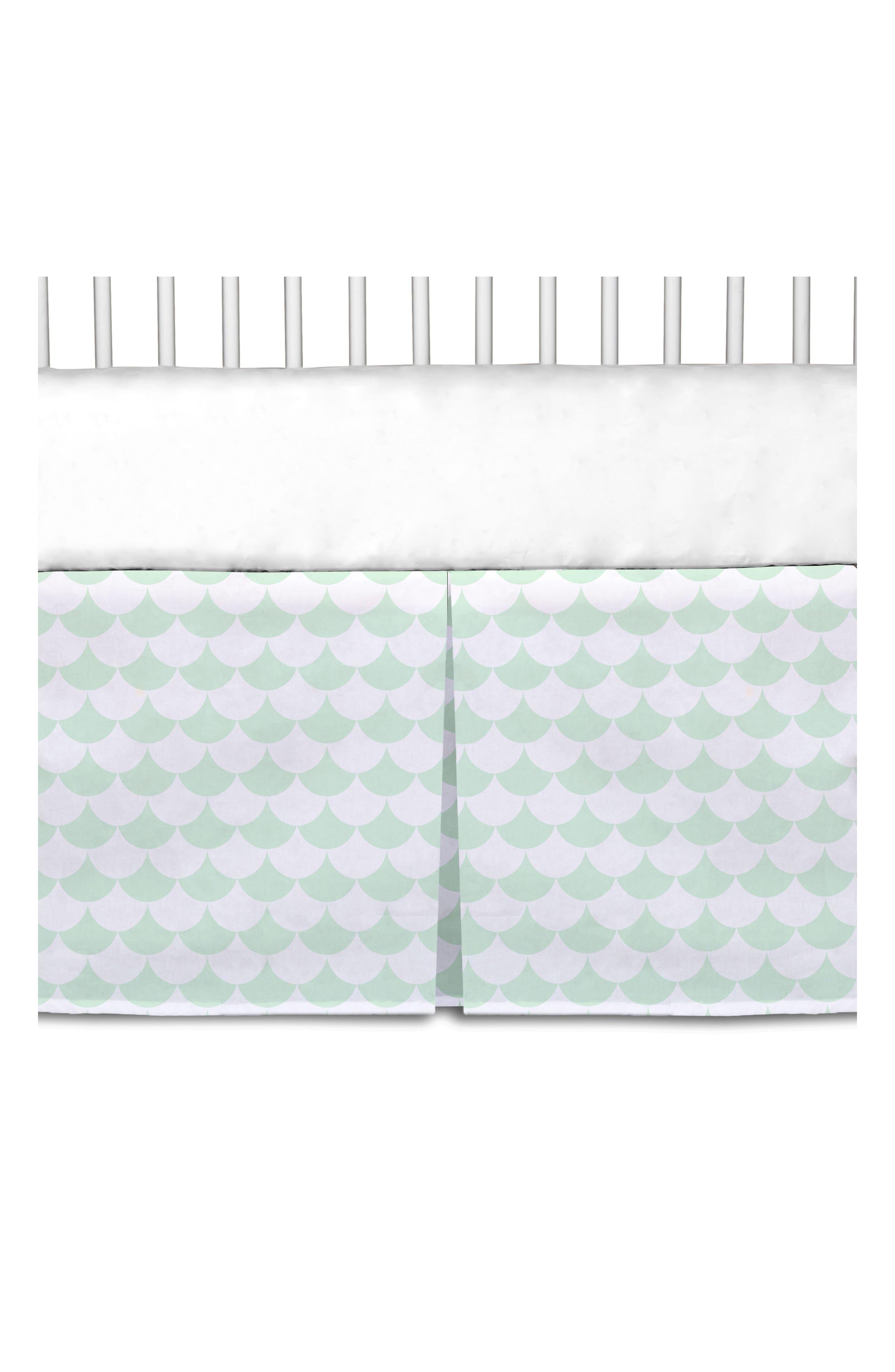 Crib Bed Skirt,                             Alternate thumbnail 5, color,