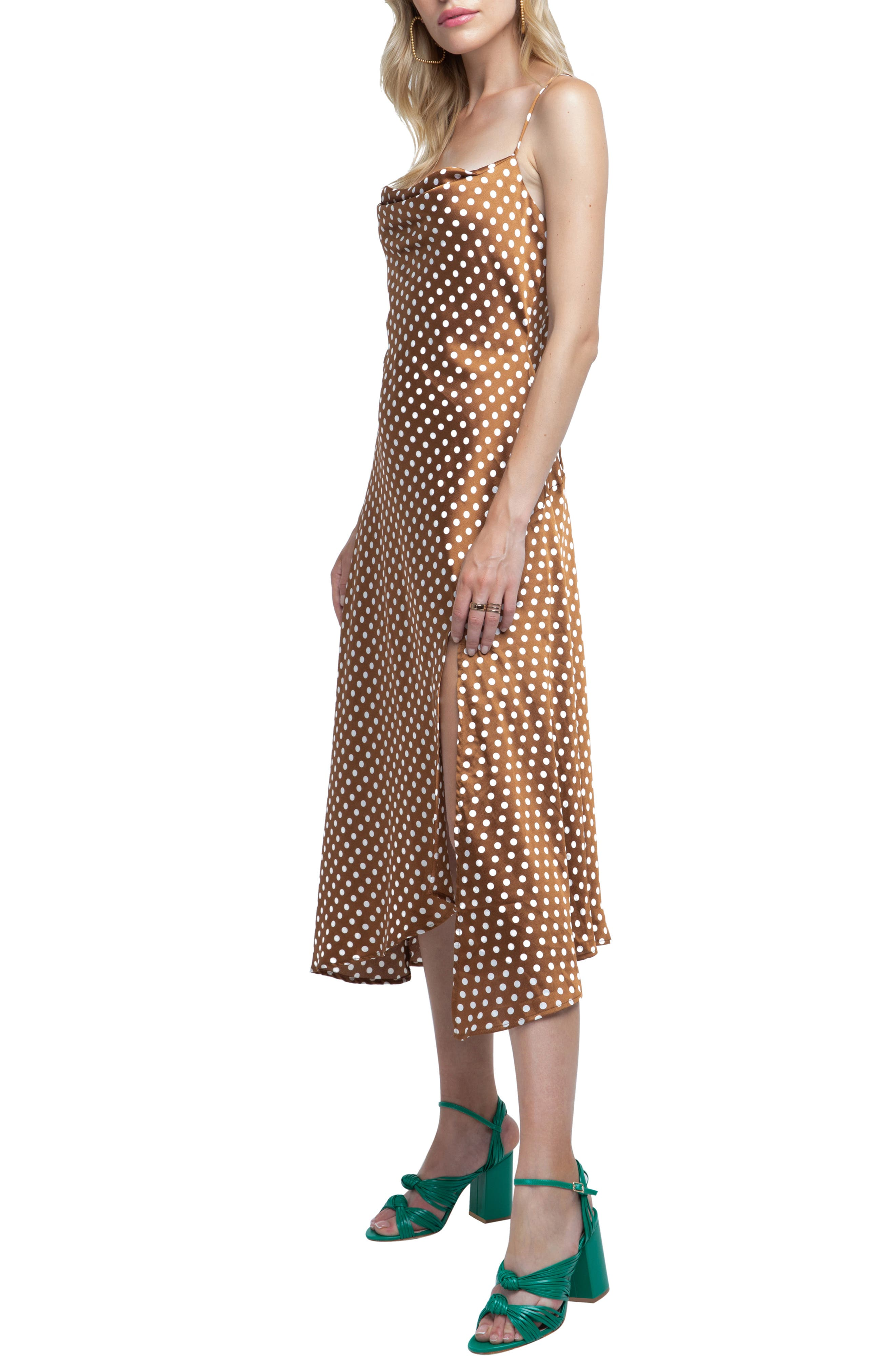ASTR Strappy Cowl Neck Midi Dress,                             Alternate thumbnail 3, color,                             200