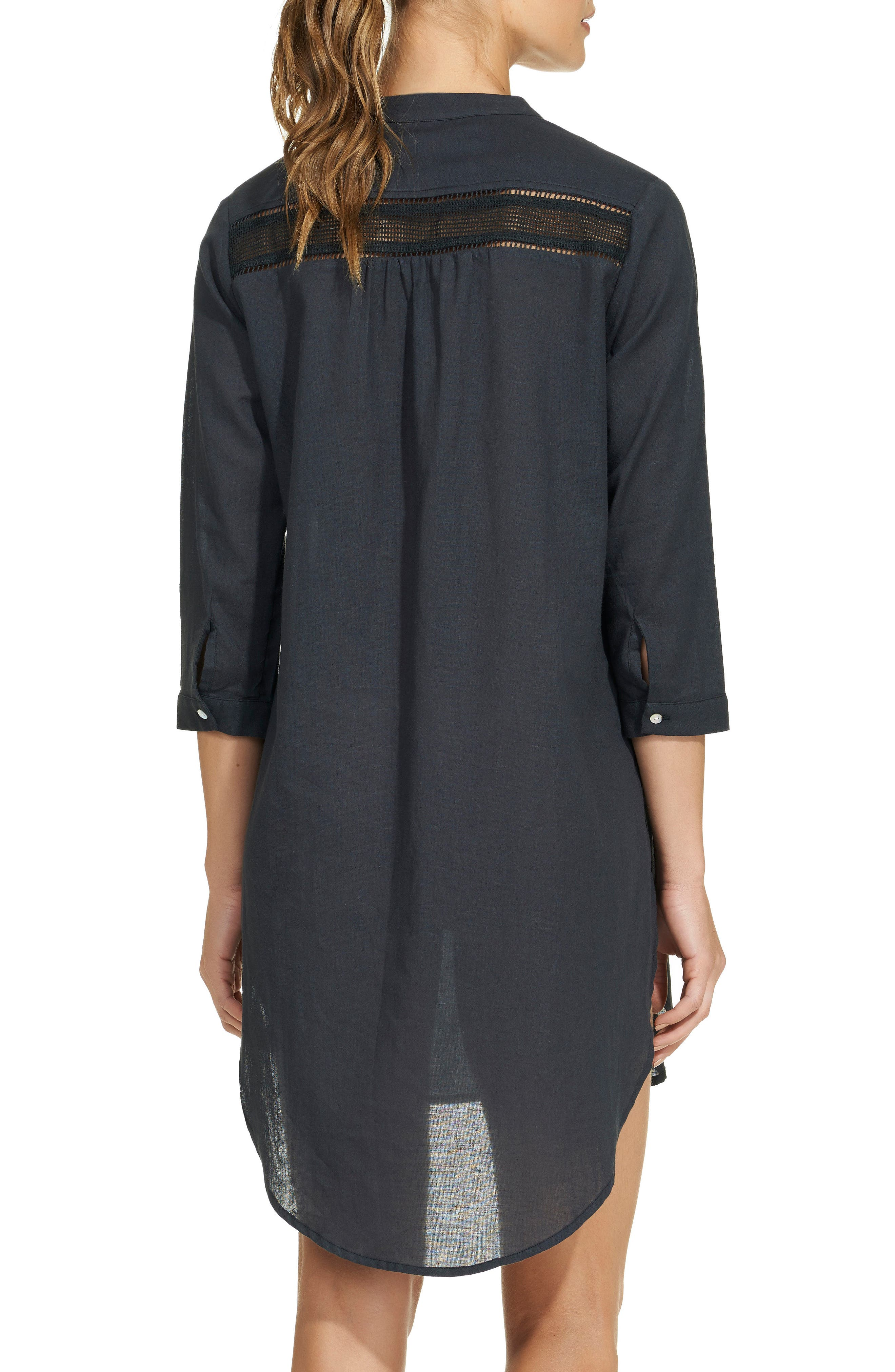 Solid Chemise Cover-Up,                             Alternate thumbnail 2, color,                             001