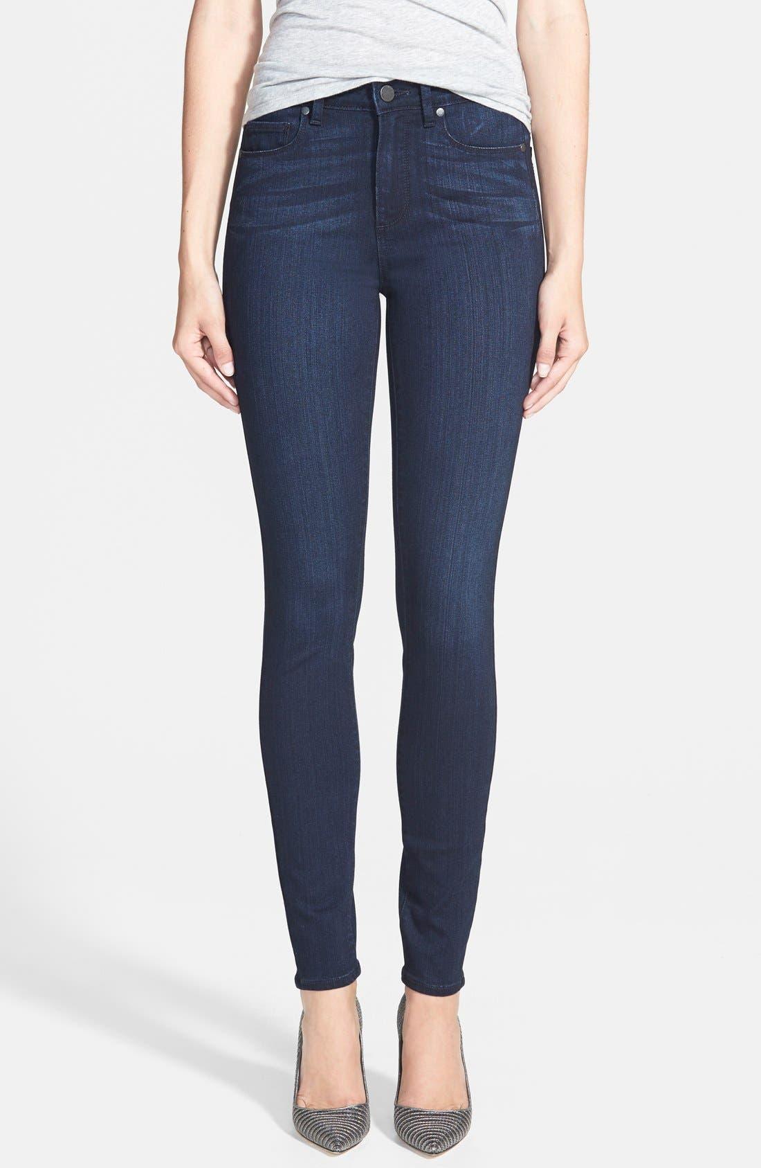 Denim 'Transcend - Hoxton' High Rise Ultra Skinny Jeans,                             Main thumbnail 1, color,                             400