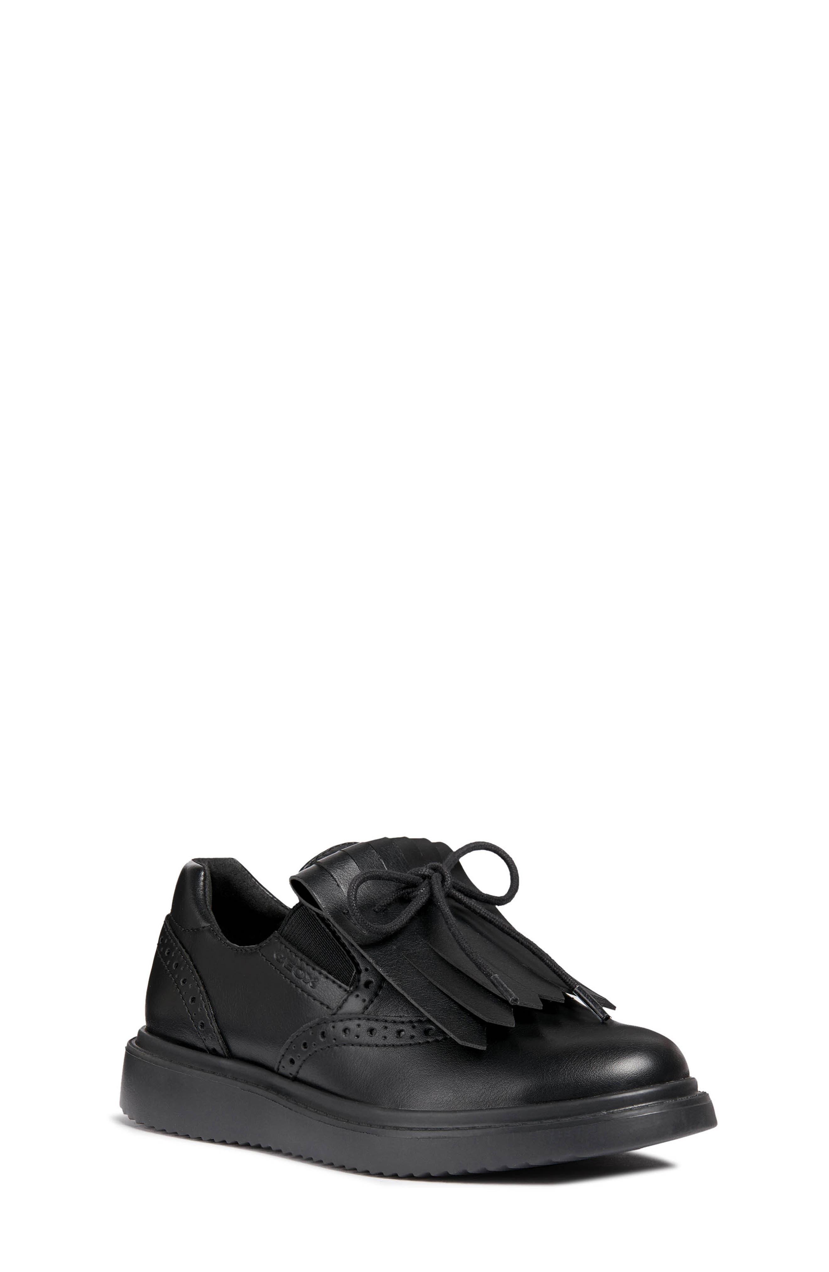 Thymar Kiltie Fringe Sneaker,                             Main thumbnail 1, color,                             BLACK