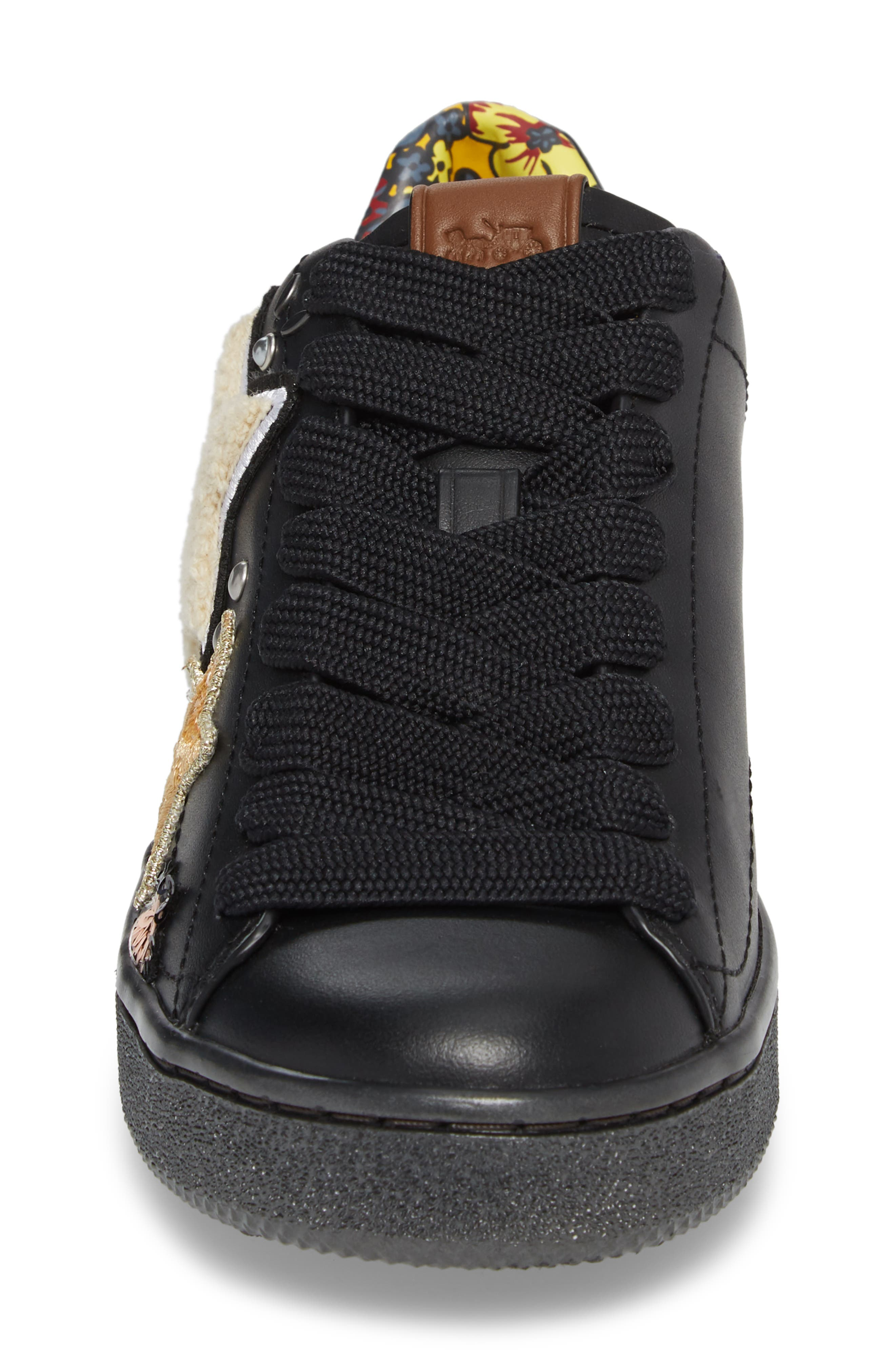 Star Patch Sneaker,                             Alternate thumbnail 4, color,                             001