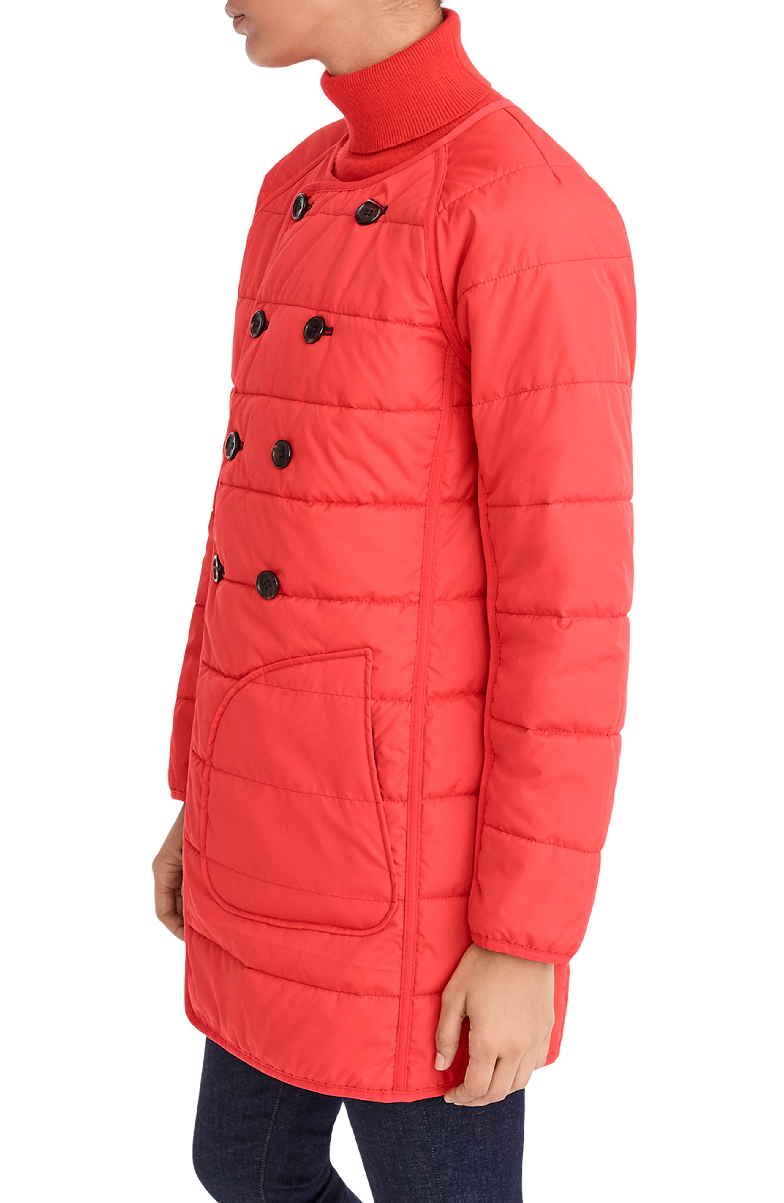 Reversible Puffer Jacket,                             Alternate thumbnail 4, color,                             400