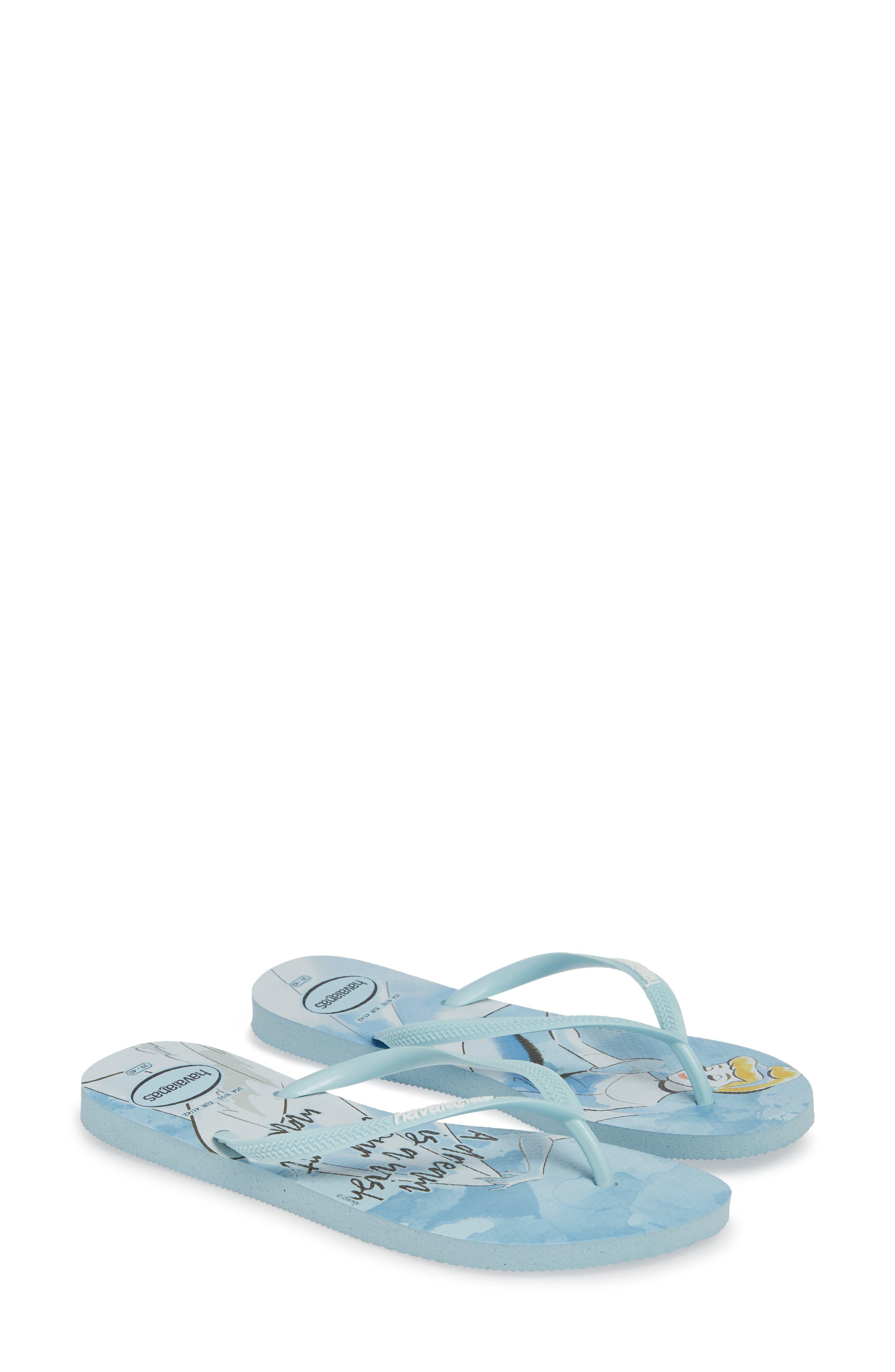 Havaiana Slim - Disney Princess Flip Flop,                             Alternate thumbnail 2, color,                             BLUE AQUA