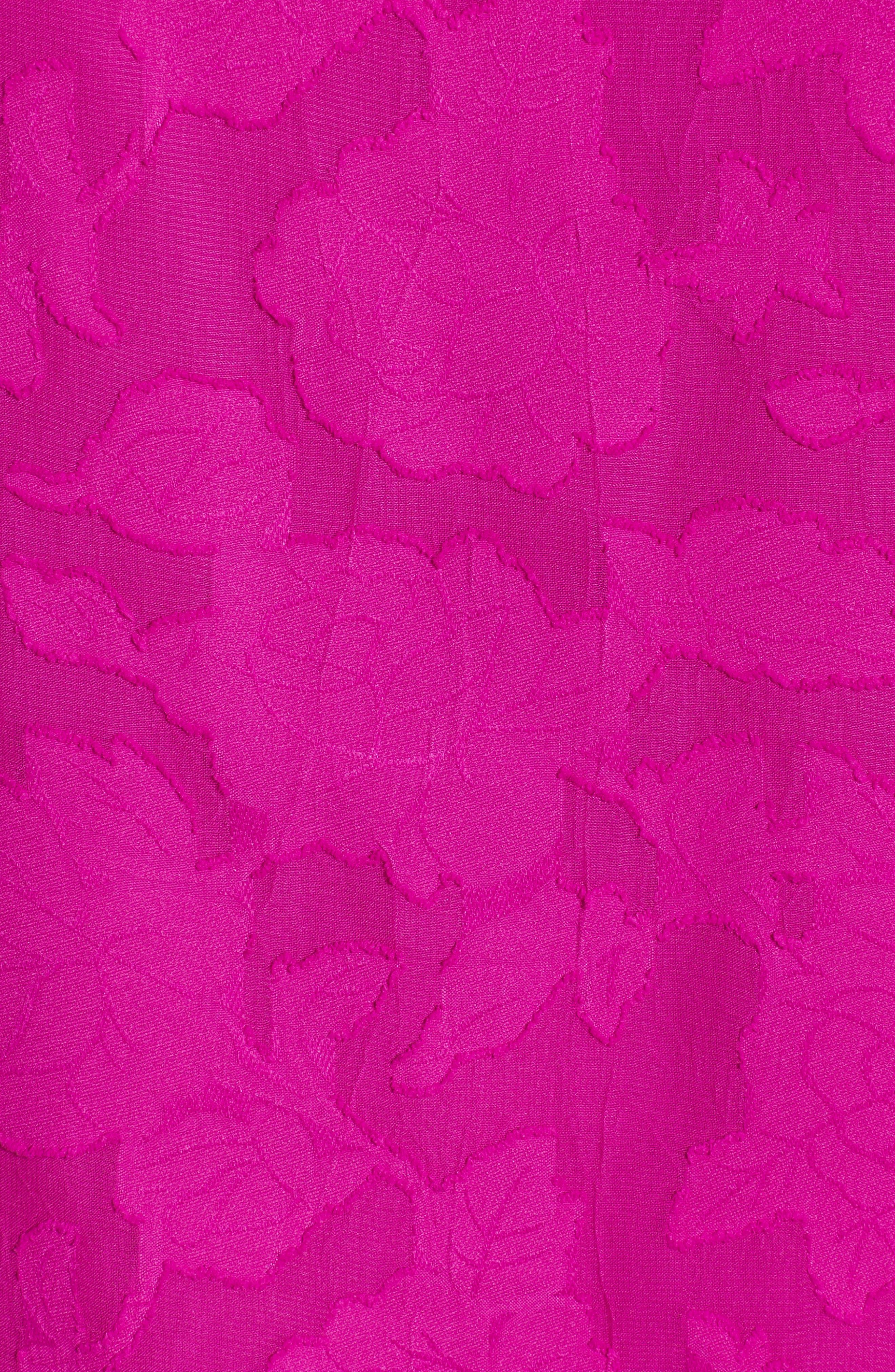 Floral Jacquard Cold Shoulder Top,                             Alternate thumbnail 5, color,